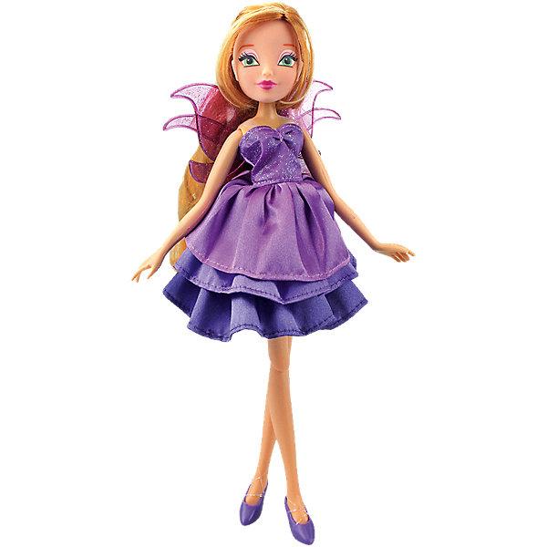 Кукла Флора Волшебное платье, Winx ClubИгрушки<br>Характеристики товара:<br><br>• возраст: от 3 лет;<br>• материал: пластик, текстиль;<br>• в комплекте: кукла, платье, 2 заколки;<br>• высота куклы: 27 см;<br>• размер упаковки: 35,5х21х6 см;<br>• вес упаковки: 304 гр.;<br>• страна производитель: Китай.<br><br>Кукла Флора «Волшебное платье» Winx Club создана по мотивам известного мультсериала «Клуб Винкс: Школа волшебниц» про очаровательных фей-волшебниц. Флора любит выращивать растения и цветы и варить зелье для них. Вся ее комната усыпана разнообразными цветочками. Она общительна и с удовольствием приглашает в гости свою подружку Лейлу.<br><br>У феи зеленые выразительные глаза и светлые волнистые волосы. Аксессуары для волос помогут девочке придумать для Флоры оригинальный и яркий образ. Одета кукла в фиолетовое платье с пышной юбкой, дополненное крылышками на спине. Платье одним движением превращается в длинное элегантное вечернее платье. У куклы несколько точек артикуляции. Руки сгибаются в локтях и плечах, ноги в бедрах и коленях. <br><br>Куклу Флору «Волшебное платье» Winx Club можно приобрести в нашем интернет-магазине.<br>Ширина мм: 60; Глубина мм: 355; Высота мм: 210; Вес г: 304; Возраст от месяцев: 36; Возраст до месяцев: 2147483647; Пол: Женский; Возраст: Детский; SKU: 5532626;