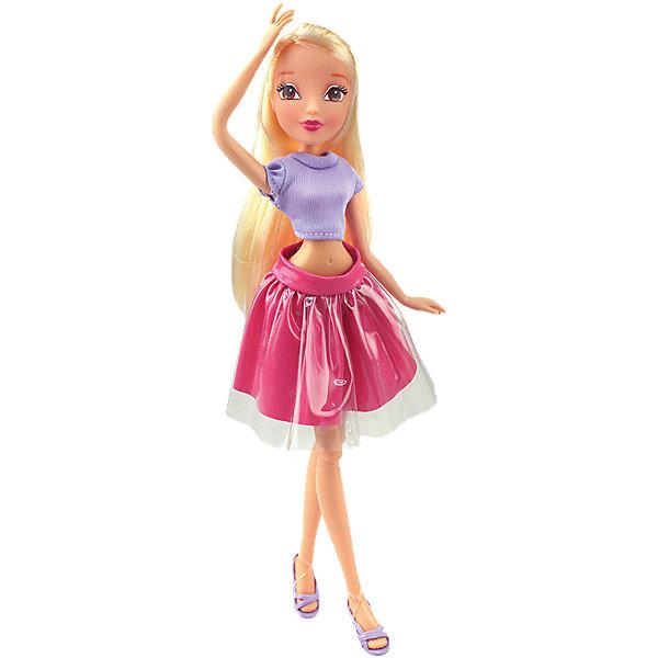 Кукла Стелла Городская магия-2, Winx ClubИгрушки<br>Характеристики товара:<br><br>• возраст: от 3 лет;<br>• материал: пластик, текстиль;<br>• в комплекте: кукла, наряд, крылья;<br>• высота куклы: 27 см;<br>• размер упаковки: 25х15х10 см;<br>• вес упаковки: 220 гр.;<br>• страна производитель: Китай.<br><br>Кукла Стелла «Городская магия-2» Winx Club создана по мотивам известного мультсериала «Клуб Винкс: Школа волшебниц» про очаровательных фей-волшебниц. Стелла — лучшая подруга главной героини Блум, с которой она любит смотреть комедии, устраивать вечеринки и ходить по магазинам. <br><br>У феи выразительные карие глаза и мягкие светлые волосы, которые можно расчесывать, заплетать и украшать. Одета Стелла в фиолетовый топ и розовую пышную юбку. У куклы несколько точек артикуляции. Руки сгибаются в локтях и плечах, ноги в бедрах и коленях. В комплекте крылышки для девочки на резинке, которые позволяет ей придумать себе волшебный образ на праздник или день рождение. <br><br>Куклу Стеллу «Городская магия-2» Winx Club можно приобрести в нашем интернет-магазине.<br>Ширина мм: 150; Глубина мм: 250; Высота мм: 100; Вес г: 25; Возраст от месяцев: 36; Возраст до месяцев: 2147483647; Пол: Женский; Возраст: Детский; SKU: 5532628;