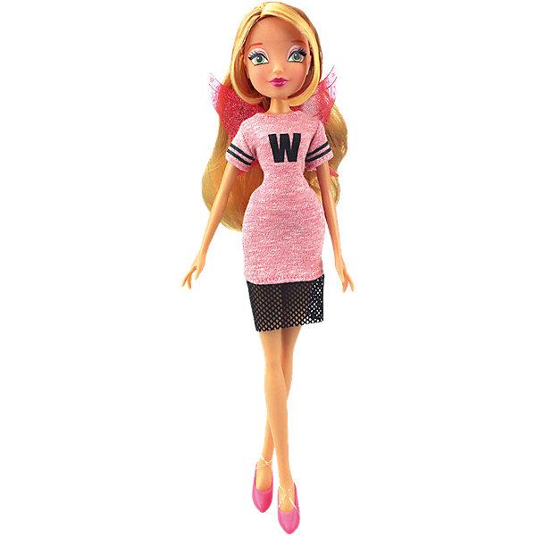 Кукла Флора Мода и магия-3, Winx ClubИгрушки<br>Характеристики товара:<br><br>• возраст: от 3 лет;<br>• материал: пластик, текстиль;<br>• в комплекте: кукла, платье, крылья;<br>• высота куклы: 28 см;<br>• размер упаковки: 25х20х10 см;<br>• вес упаковки: 167 гр.;<br>• страна производитель: Китай.<br><br>Кукла Флора «Мода и магия-3» Winx Club создана по мотивам известного мультсериала «Клуб Винкс: Школа волшебниц» про очаровательных фей-волшебниц. Флора любит выращивать растения и цветы и варить зелье для них. Вся ее комната усыпана разнообразными цветочками. Она общительна и с удовольствием приглашает в гости свою подружку Лейлу.<br><br>У феи выразительные зеленые глаза и мягкие светлые волосы, которые можно расчесывать, заплетать и украшать. Одета Флора в спортивное розовое платье с буквой W. Дополняют образ куколки крылышки на спине. У куклы несколько точек артикуляции. Руки сгибаются в локтях и плечах, ноги в бедрах и коленях. <br><br>Куклу Флору «Мода и магия-3» Winx Club можно приобрести в нашем интернет-магазине.<br><br>Ширина мм: 200<br>Глубина мм: 250<br>Высота мм: 100<br>Вес г: 167<br>Возраст от месяцев: 36<br>Возраст до месяцев: 120<br>Пол: Женский<br>Возраст: Детский<br>SKU: 5532632
