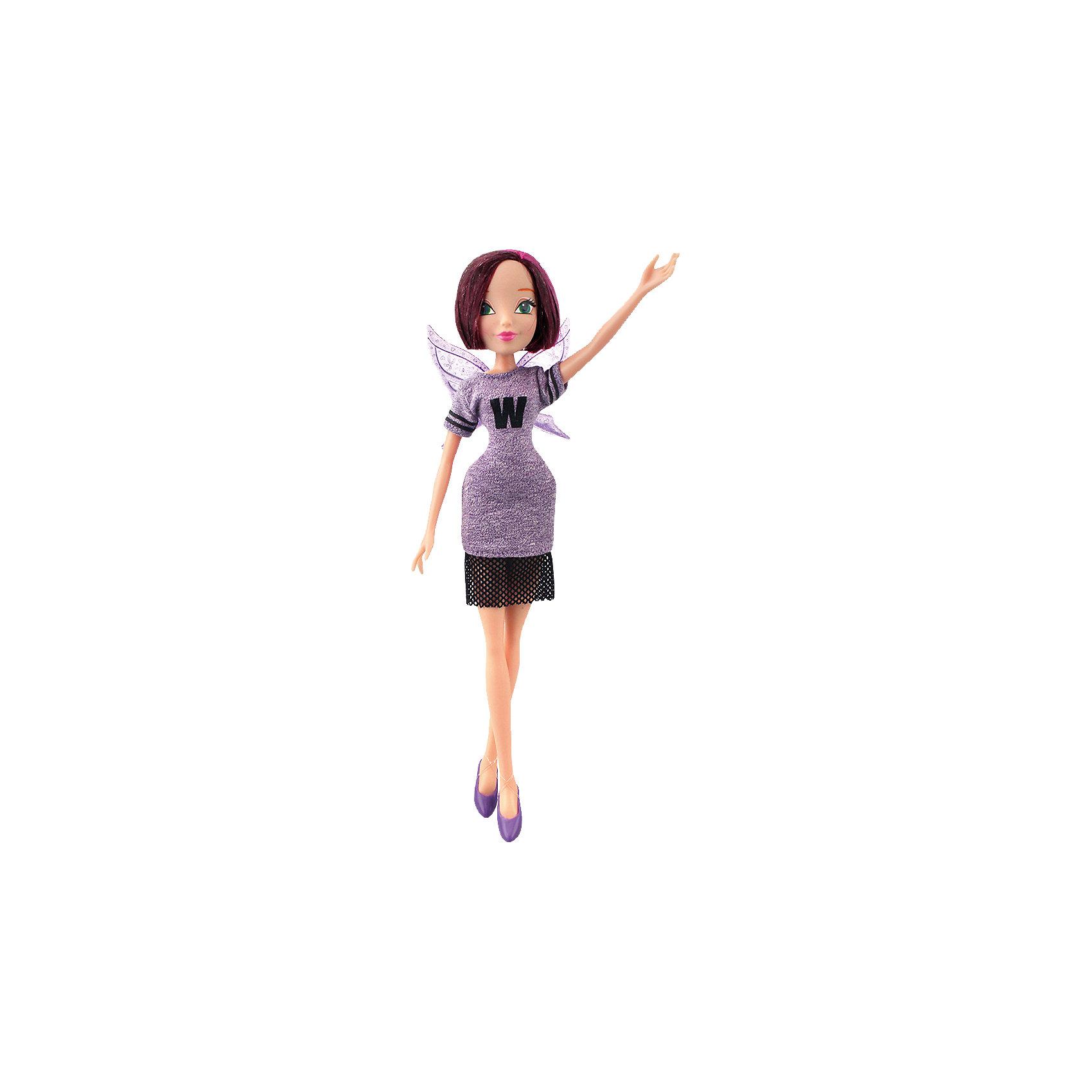 Кукла Текна Мода и магия-3, Winx ClubИгрушки<br>Характеристики товара:<br><br>• возраст: от 3 лет;<br>• материал: пластик, текстиль;<br>• в комплекте: кукла, платье, крылья;<br>• высота куклы: 28 см;<br>• размер упаковки: 25х20х10 см;<br>• вес упаковки: 167 гр.;<br>• страна производитель: Китай.<br><br>Кукла Текна «Мода и магия-3» Winx Club создана по мотивам известного мультсериала «Клуб Винкс: Школа волшебниц» про очаровательных фей-волшебниц. Текна — одна из лучших учениц школы. Она очень сообразительная и умная, предметы в школе ей даются легко. Текна увлекается не только магией, но и технологиями и постоянно носит с собой маленький компьютер. <br><br>У феи выразительные зеленые глаза и короткие фиолетовые волосы, которые можно расчесывать, заплетать и украшать. Одета Текна в спортивное фиолетовое платье с буквой W. Дополняют образ куколки крылышки на спине. У куклы несколько точек артикуляции. Руки сгибаются в локтях и плечах, ноги в бедрах и коленях. <br><br>Куклу Текну «Мода и магия-3» Winx Club можно приобрести в нашем интернет-магазине.<br><br>Ширина мм: 200<br>Глубина мм: 250<br>Высота мм: 100<br>Вес г: 167<br>Возраст от месяцев: 36<br>Возраст до месяцев: 2147483647<br>Пол: Женский<br>Возраст: Детский<br>SKU: 5532636