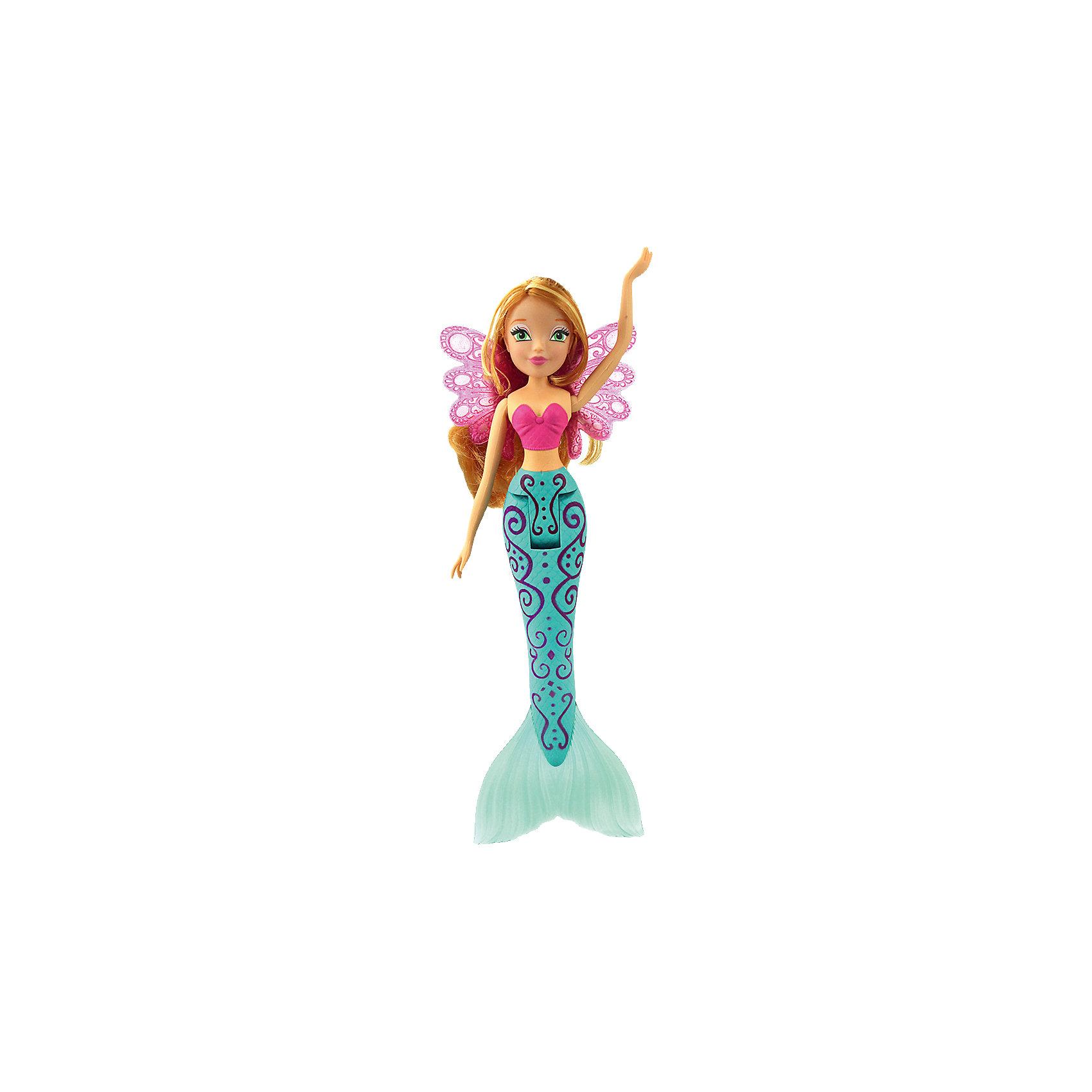 Кукла Флора Русалочка-2, Winx ClubКуклы-русалки<br>Характеристики товара:<br><br>• возраст: от 3 лет;<br>• материал: пластик, текстиль;<br>• в комплекте: кукла, крылья, расческа;<br>• высота куклы: 28 см;<br>• размер упаковки: 35х15х6 см;<br>• вес упаковки: 240 гр.;<br>• страна производитель: Китай.<br><br>Кукла Флора «Русалочка-2» Winx Club создана по мотивам известного мультсериала «Клуб Винкс: Школа волшебниц» про очаровательных фей-волшебниц. Флора любит выращивать растения и цветы и варить зелье для них. Вся ее комната усыпана разнообразными цветочками. Она общительна и с удовольствием приглашает в гости свою подружку Лейлу.<br><br>У феи зеленые выразительные глаза и светлые волнистые волосы. Она предстает в образе русалочки с голубым хвостом, украшенным узорами. Хвост феи волшебный, так как при прикосновении с водой он меняет свой цвет. Руки и хвост куклы подвижны.<br><br>Куклу Флору «Русалочка-2» Winx Club можно приобрести в нашем интернет-магазине.<br><br>Ширина мм: 60<br>Глубина мм: 350<br>Высота мм: 150<br>Вес г: 240<br>Возраст от месяцев: 36<br>Возраст до месяцев: 2147483647<br>Пол: Женский<br>Возраст: Детский<br>SKU: 5532638