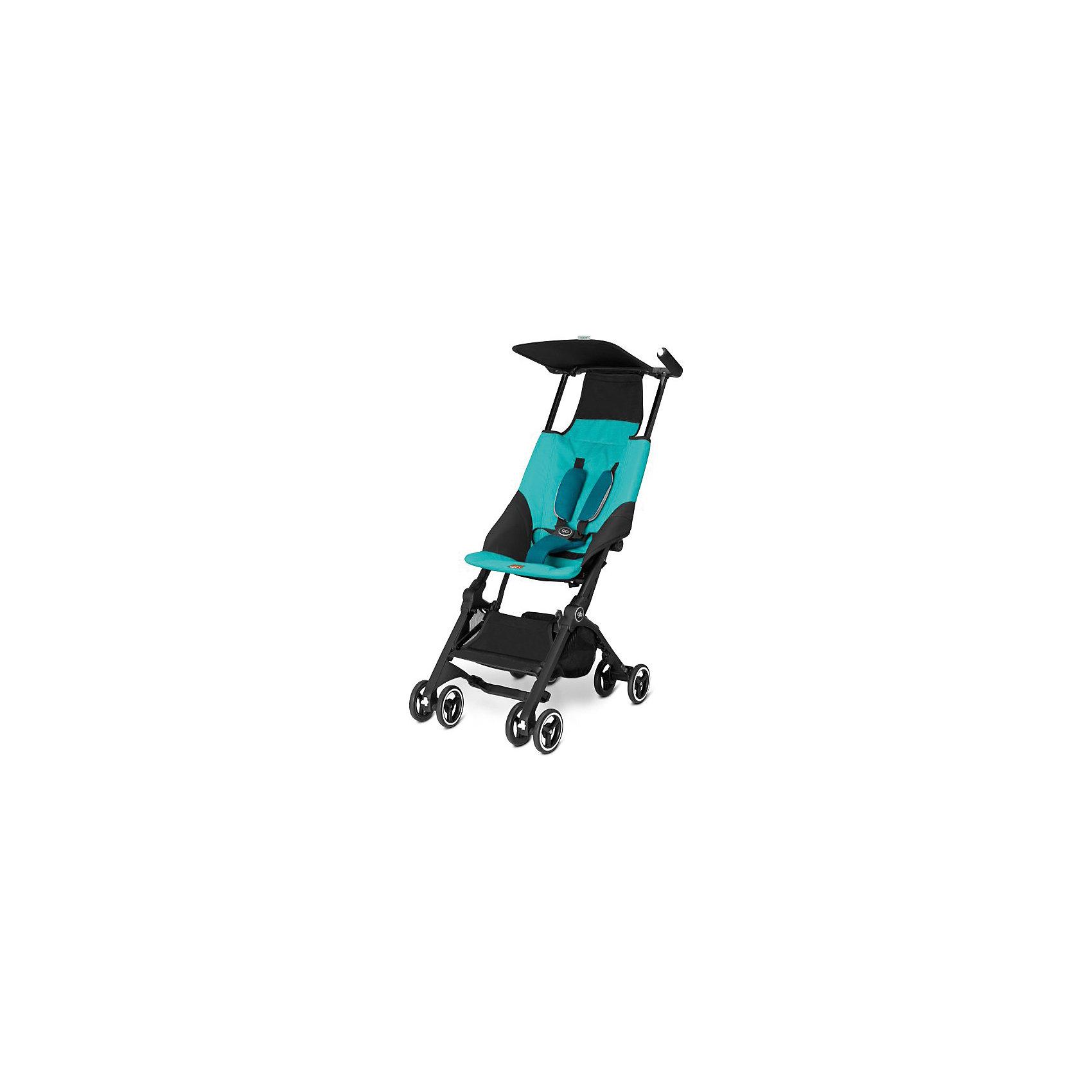 Прогулочная коляска GB pockit, Capri BlueПрогулочные коляски<br>Характеристики коляски GB Pockit<br><br>Прогулочный блок:<br><br>• 5-ти точечные ремни безопасности с мягкими съемными накладками на кпопках;<br>• навесной козырек, полностью убирается за спинку коляски;<br>• съемный для стирки чехол прогулочного блока;<br>• материал: пластик, полиэстер.<br><br>Рама коляски:<br><br>• сдвоенные колеса: передние поворотные с блокировкой, задние оснащены тормозом;<br>• имеется корзина для покупок, объем 8 л;<br>• компактное складывание с защитой от раскладывания;<br>• 2 способа складывания;<br>• механизм складывания: книжка, колеса обращены друг к другу;<br>• материал: алюминий.<br><br>Допустимая нагрузка: до 17 кг<br>Размер коляски: 72х43х99 см<br>Размер коляски в сложенном виде: 30х18х35 см<br>Размер упаковки: 90х40х40 см<br>Вес коляски: 4,3 кг<br>Вес в упаковке: 6 кг<br><br>Супер компактная коляска Pockit в сложенном виде напоминает женскую сумку. Колеса направлены внутрь, коляска в сложенном виде фиксируется с помощью специального механизма. Прогулочный блок оснащен ремнями безопасности, которые снабжены съемными плечевыми накладками. Козырек от солнца можно полностью убрать за спинку коляски. Корзина используется для транспортировки детских игрушек или немногочисленных покупок. <br><br>Прогулочную коляску pockit, GB, Capri Blue можно купить в нашем интернет-магазине.<br><br>Ширина мм: 900<br>Глубина мм: 400<br>Высота мм: 400<br>Вес г: 6000<br>Возраст от месяцев: 6<br>Возраст до месяцев: 36<br>Пол: Унисекс<br>Возраст: Детский<br>SKU: 5532640