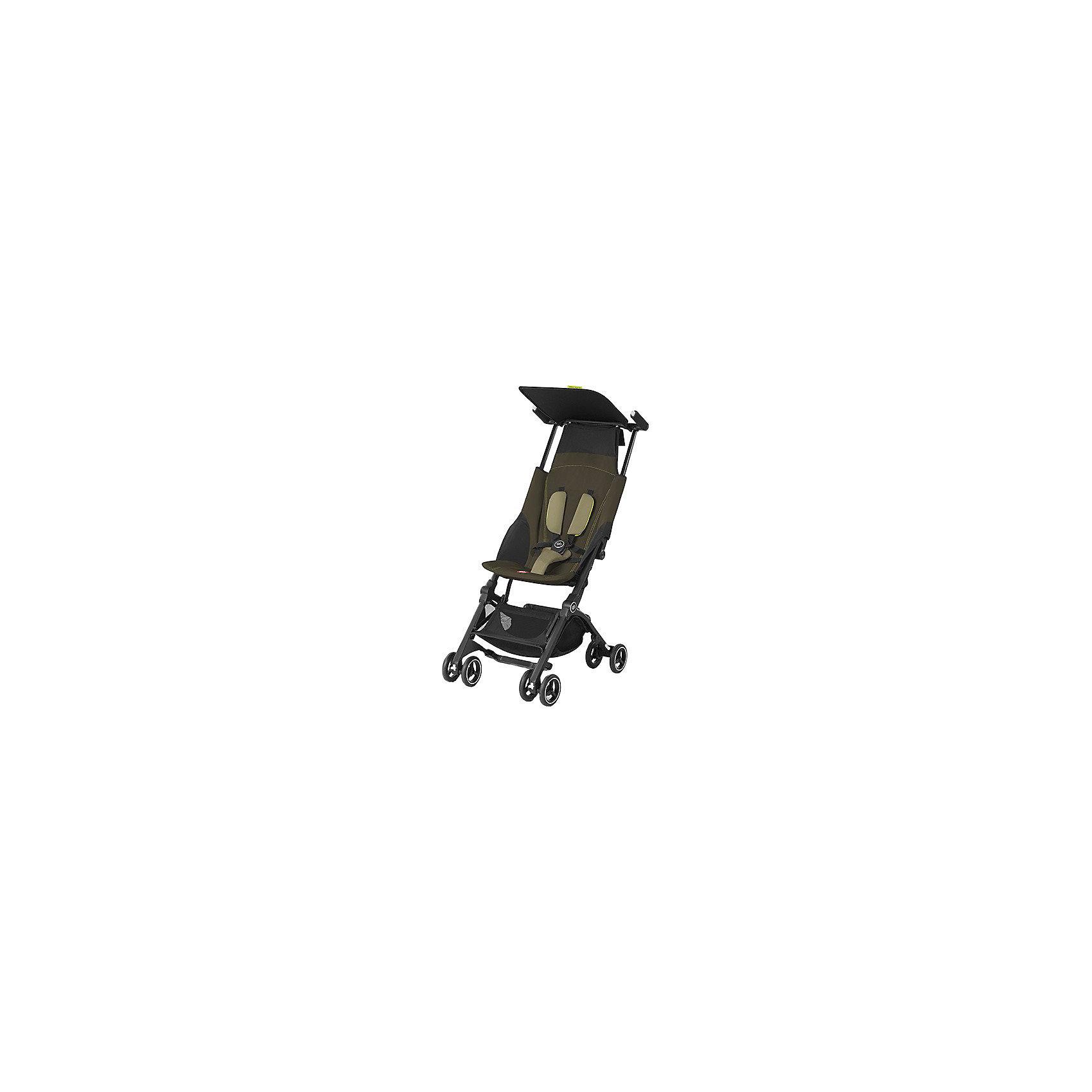 Прогулочная коляска GB pockit +, Lizard KhakiПрогулочные коляски<br>Характеристики коляски GB Pockit+<br><br>Прогулочный блок:<br><br>• 2 положения спинки коляски: сидя и полусидя;<br>• 5-ти точечные ремни безопасности с мягкими съемными накладками на кпопках;<br>• навесной козырек, полностью убирается за спинку коляски;<br>• съемный для стирки чехол прогулочного блока;<br>• материал: пластик, полиэстер.<br><br>Рама коляски:<br><br>• сдвоенные колеса: передние поворотные с блокировкой, задние оснащены тормозом;<br>• имеется корзина для покупок, объем 8 л;<br>• компактное складывание с защитой от раскладывания;<br>• 2 способа складывания;<br>• механизм складывания: книжка, колеса обращены друг к другу;<br>• материал: алюминий.<br><br>Допустимая нагрузка: до 17 кг<br>Размер коляски: 72х43х99 см<br>Размер коляски в сложенном виде: 30х18х35 см<br>Размер упаковки: 90х40х40 см<br>Вес коляски: 4,3 кг<br>Вес в упаковке: 6 кг<br><br>Супер компактная коляска Pockit+ в сложенном виде напоминает женскую сумку. Колеса направлены внутрь, коляска в сложенном виде фиксируется с помощью специального механизма. В отличии от модели Pockit, спинка коляски опускается на одну позицию, ребенок может занять положние сидя и полусидя.  Прогулочный блок оснащен ремнями безопасности, которые снабжены съемными плечевыми накладками. Козырек от солнца можно полностью убрать за спинку коляски. Корзина используется для транспортировки детских игрушек или немногочисленных покупок. <br><br>Прогулочную коляску pockit +, GB, Lizard Khaki можно купить в нашем интернет-магазине.<br><br>Ширина мм: 900<br>Глубина мм: 400<br>Высота мм: 400<br>Вес г: 6000<br>Возраст от месяцев: 6<br>Возраст до месяцев: 36<br>Пол: Унисекс<br>Возраст: Детский<br>SKU: 5532648