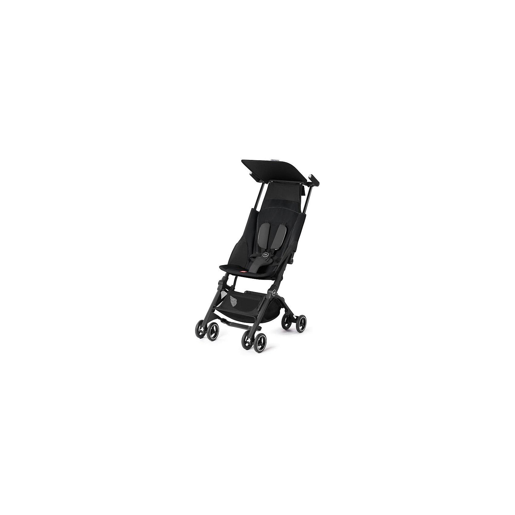Прогулочная коляска GB pockit +, Monnument BlackПрогулочные коляски<br>Характеристики коляски GB Pockit+<br><br>Прогулочный блок:<br><br>• 2 положения спинки коляски: сидя и полусидя;<br>• 5-ти точечные ремни безопасности с мягкими съемными накладками на кпопках;<br>• навесной козырек, полностью убирается за спинку коляски;<br>• съемный для стирки чехол прогулочного блока;<br>• материал: пластик, полиэстер.<br><br>Рама коляски:<br><br>• сдвоенные колеса: передние поворотные с блокировкой, задние оснащены тормозом;<br>• имеется корзина для покупок, объем 8 л;<br>• компактное складывание с защитой от раскладывания;<br>• 2 способа складывания;<br>• механизм складывания: книжка, колеса обращены друг к другу;<br>• материал: алюминий.<br><br>Допустимая нагрузка: до 17 кг<br>Размер коляски: 72х43х99 см<br>Размер коляски в сложенном виде: 30х18х35 см<br>Размер упаковки: 90х40х40 см<br>Вес коляски: 4,3 кг<br>Вес в упаковке: 6 кг<br><br>Супер компактная коляска Pockit+ в сложенном виде напоминает женскую сумку. Колеса направлены внутрь, коляска в сложенном виде фиксируется с помощью специального механизма. В отличии от модели Pockit, спинка коляски опускается на одну позицию, ребенок может занять положние сидя и полусидя.  Прогулочный блок оснащен ремнями безопасности, которые снабжены съемными плечевыми накладками. Козырек от солнца можно полностью убрать за спинку коляски. Корзина используется для транспортировки детских игрушек или немногочисленных покупок. <br><br>Прогулочную коляску pockit +, GB, Monnument Black можно купить в нашем интернет-магазине.<br><br>Ширина мм: 900<br>Глубина мм: 400<br>Высота мм: 400<br>Вес г: 6000<br>Возраст от месяцев: 6<br>Возраст до месяцев: 36<br>Пол: Унисекс<br>Возраст: Детский<br>SKU: 5532649