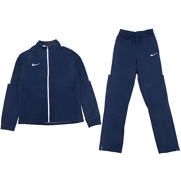 Спортивный костюм NIKEСпортивная форма<br>Характеристики товара:<br><br>• цвет: синий<br>• комплектация: курточка, брюки<br>• спортивный стиль<br>• состав: 100% полиэстер, Nike Dry<br>• мягкий пояс брюк<br>• комфортная посадка <br>• молния<br>• манжеты<br>• небольшой принт<br>• материал дарит ощущение прохлады и комфорт<br>• машинная стирка<br>• износостойкий материал<br>• страна бренда: США<br>• страна изготовитель: Индонезия<br><br>Продукция бренда NIKE известна высоким качеством и уникальным узнаваемым дизайном. Удобная посадка не сковывает движения, помогает создать для тела необходимую вентиляцию и вывод влаги.<br><br>Материал обеспечивает вещам долгий срок службы и отличный внешний вид даже после значительного количества стирок. Уход за изделием прост - достаточно машинной стирки на низкой температуре.<br><br>Качественный материал создает комфортную посадку, вещь при этом смотрится очень стильно. Благодаря универсальному цвету она отлично смотрится с разной одеждой и обувью.<br><br>Спортивный костюм NIKE (Найк) можно купить в нашем интернет-магазине.<br><br>Ширина мм: 247<br>Глубина мм: 16<br>Высота мм: 140<br>Вес г: 225<br>Цвет: синий<br>Возраст от месяцев: 168<br>Возраст до месяцев: 180<br>Пол: Унисекс<br>Возраст: Детский<br>Размер: 158/170,122/128,147/158,135/140,128/134<br>SKU: 5532771
