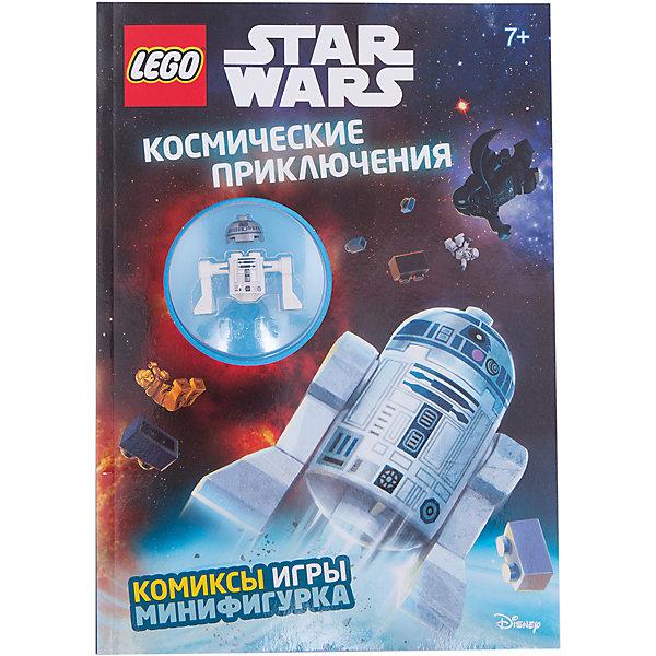 Космические приключенияКниги LEGO<br>Характеристики товара: <br><br>• ISBN: 9785699912414<br>• возраст от: 6 лет<br>• формат: 60x84/8<br>• бумага: мелованная<br>• обложка: мягкая<br>• иллюстрации: цветные<br>• серия: LEGO Звёздные Войны. Книги со сборными фигурками<br>• издательство: Эксмо<br>• переводчик: Цветкова Н. В.<br>• количество страниц: 32<br>• размеры: 29x20 см<br><br>Вселенную из фильма «Звездные войны» обожают многие современные дети. Этот журнал поможет снова встретиться с любимыми героями, выполняя интересные задания и читая про новые приключения.<br><br>Отличное качество печати, красочные иллюстрации, минифигурка, которую можно собрать самостоятельно - всё это поможет проникнуться атмосферой любимой вселенной.<br><br>«Космические приключения» можно купить в нашем интернет-магазине.<br>Ширина мм: 280; Глубина мм: 210; Высота мм: 110; Вес г: 186; Возраст от месяцев: 84; Возраст до месяцев: 2147483647; Пол: Унисекс; Возраст: Детский; SKU: 5535321;
