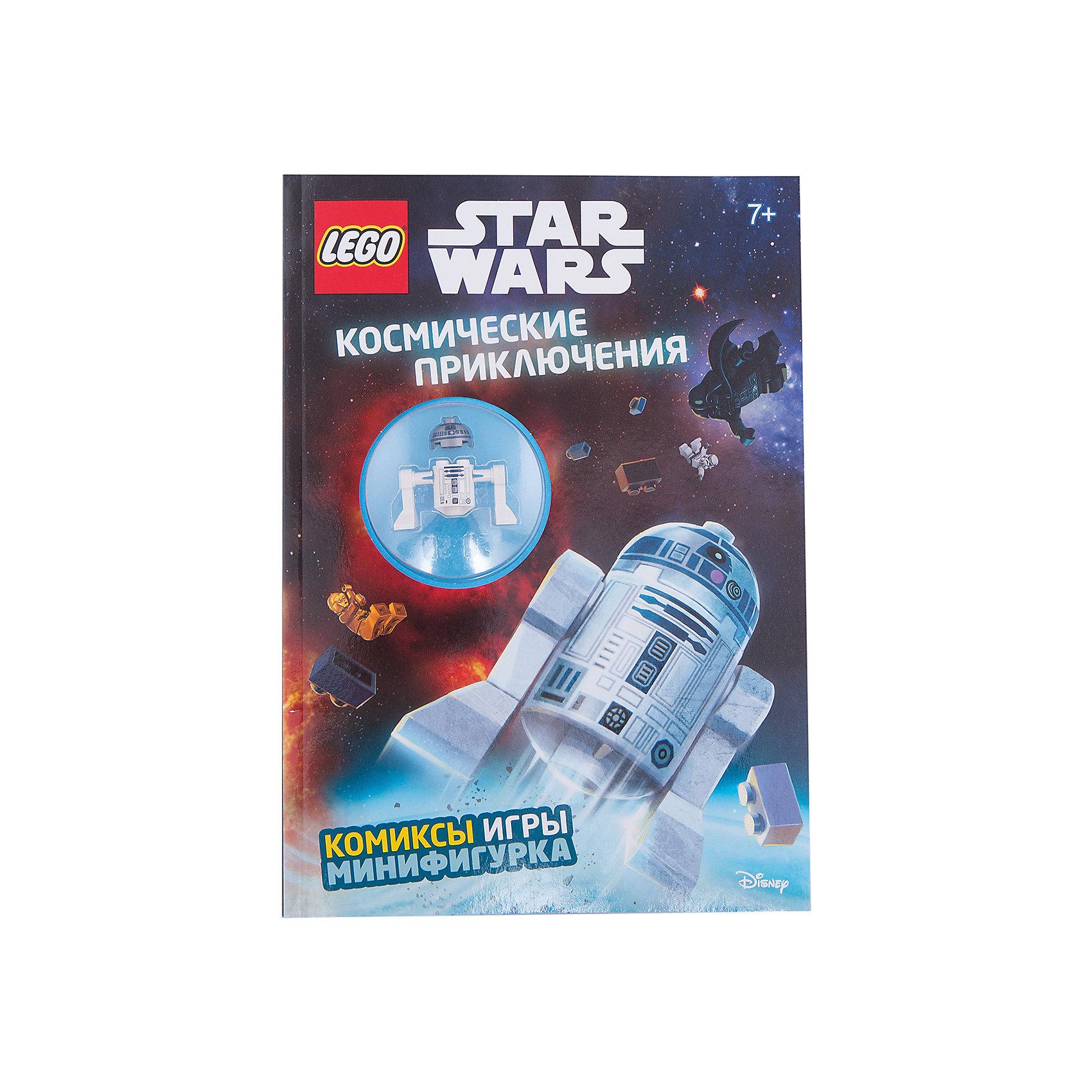 Космические приключенияКниги для мальчиков<br>Характеристики товара: <br><br>• ISBN: 9785699912414<br>• возраст от: 6 лет<br>• формат: 60x84/8<br>• бумага: мелованная<br>• обложка: мягкая<br>• иллюстрации: цветные<br>• серия: LEGO Звёздные Войны. Книги со сборными фигурками<br>• издательство: Эксмо<br>• переводчик: Цветкова Н. В.<br>• количество страниц: 32<br>• размеры: 29x20 см<br><br>Вселенную из фильма «Звездные войны» обожают многие современные дети. Этот журнал поможет снова встретиться с любимыми героями, выполняя интересные задания и читая про новые приключения.<br><br>Отличное качество печати, красочные иллюстрации, минифигурка, которую можно собрать самостоятельно - всё это поможет проникнуться атмосферой любимой вселенной.<br><br>«Космические приключения» можно купить в нашем интернет-магазине.<br><br>Ширина мм: 280<br>Глубина мм: 210<br>Высота мм: 110<br>Вес г: 186<br>Возраст от месяцев: 84<br>Возраст до месяцев: 2147483647<br>Пол: Унисекс<br>Возраст: Детский<br>SKU: 5535321
