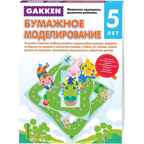 Тетрадь Бумажное моделирование, 5+, GakkenРаскраски по номерам<br>Характеристики товара: <br><br>• ISBN: 9785699871476<br>• возраст от: 5 лет<br>• формат: 90x60/8<br>• бумага: офсет<br>• обложка: мягкая<br>• серия: Gakken. Японские принципы развития ребенка<br>• издательство: Эксмо-Пресс<br>• иллюстрации: черно-белые, цветные<br>• переводчик: Анисимова Екатерина<br>• количество страниц: 64<br>• размеры: 21x29 см<br><br>Тетрадь «Бумажное моделирование, 5+» - это часть известной японской методики обучения детей. С помощью такой тетради ребенок сможет научиться мастерить поделки, а также освоить другие навыки.<br><br>Данная тетрадь позволит ребенку развивать свое мышление и готовиться к школе. Задания интересные и несложные. Для детей дошкольного возраста.<br><br>Рабочую тетрадь «Бумажное моделирование, 5+» можно купить в нашем интернет-магазине.<br><br>Ширина мм: 210<br>Глубина мм: 290<br>Высота мм: 60<br>Вес г: 306<br>Возраст от месяцев: 36<br>Возраст до месяцев: 2147483647<br>Пол: Унисекс<br>Возраст: Детский<br>SKU: 5535519