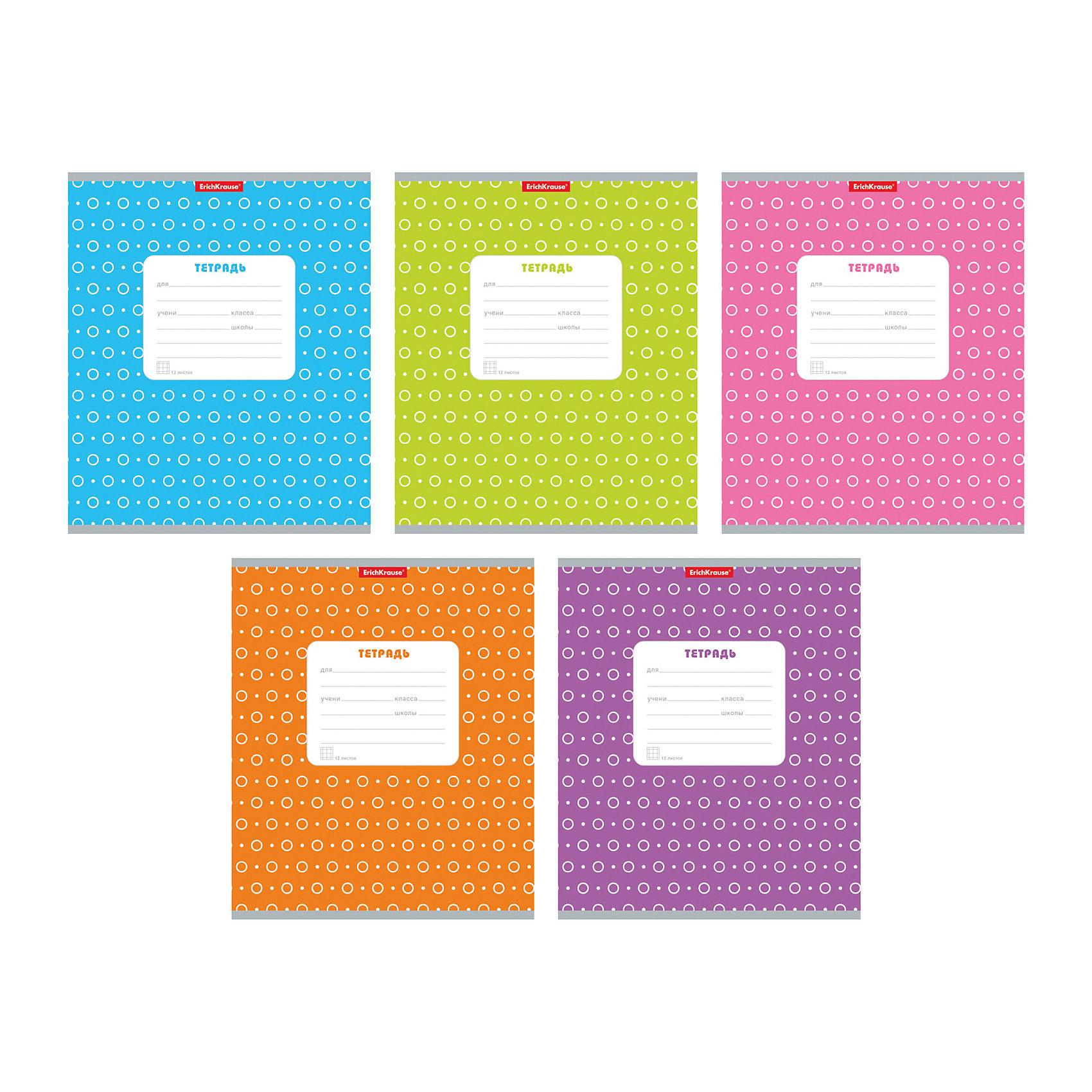 Тетрадь в клетку, 12 листов, горошек ассорти, упаковка из 10 шт.Бумажная продукция<br>Тетрадь 12 листов, горошек ассорти, 10 шт.<br><br>Характеристики:<br><br>• Количество: 10 шт.<br>• Формат: А5<br>• Внутренний блок: 12 листов, клетка, офсет<br>• Тип крепления: скрепка<br>• Обложка: мелованный картон<br>• Цвет обложки: ассорти в горошек<br><br>Тетради в клетку с полями «Горошек» предназначены для школьников. Отличная полиграфия и качественная бумага обеспечат высокое качество письма. Обложка из мелованного картона позволит сохранять тетрадь в аккуратном виде в течение всего периода использования.<br><br>Тетрадь 12 листов, горошек ассорти, 10 шт. можно купить в нашем интернет-магазине.<br><br>Ширина мм: 170<br>Глубина мм: 20<br>Высота мм: 205<br>Вес г: 349<br>Возраст от месяцев: 60<br>Возраст до месяцев: 204<br>Пол: Унисекс<br>Возраст: Детский<br>SKU: 5540076