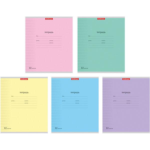 Тетрадь 12 листов линовку, упаковка из 10 шт.Бумажная продукция<br>Тетрадь 12 листов линовку, 10 шт.<br><br>Характеристики:<br><br>• Количество: 10 шт.<br>• Формат: А5<br>• Внутренний блок: 12 листов (офсет 60 г/м2)<br>• Линовка: узкая линейка, частая косая линия, с полями<br>• Тип крепления: скрепка<br>• Обложка: мелованный картон<br>• В упаковке: 5 видов тетрадей<br><br>Тетради с обложкой ярких, насыщенных цветов в косую узкую линейку с полями предназначены для занятий детей дошкольного и младшего школьного возраста. Отличная полиграфия и качественная бумага обеспечат высокое качество письма. Обложка из мелованного картона позволит сохранять тетрадь в аккуратном виде в течение всего периода использования. На задней обложке тетради – русский и английский алфавит.<br><br>Тетрадь 12 листов линовку, 10 шт. можно купить в нашем интернет-магазине.<br>Ширина мм: 170; Глубина мм: 20; Высота мм: 205; Вес г: 349; Возраст от месяцев: 60; Возраст до месяцев: 204; Пол: Унисекс; Возраст: Детский; SKU: 5540085;