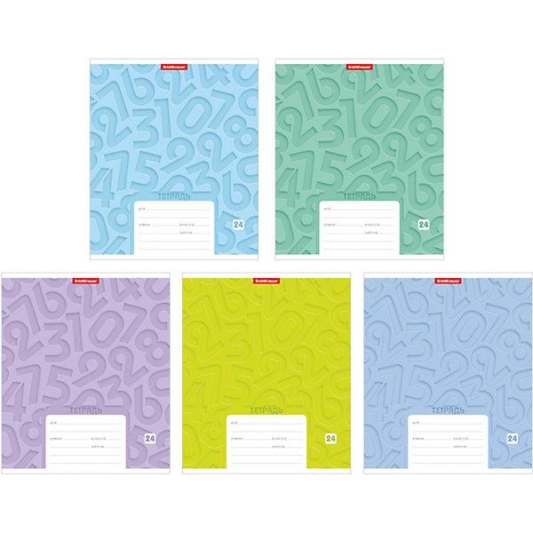 Тетрадь 24 листа Типографика Цифры, упаковка из 10 шт.Бумажная продукция<br>Тетрадь 24 листа Типографика Цифры, 10 шт.<br><br>Характеристики:<br><br>• Количество: 10 шт.<br>• Формат: А5<br>• Внутренний блок: 24 листа, клетка, офсет<br>• Тип крепления: скрепка<br>• Обложка: мелованный картон<br><br>Тетради в клетку, с узором из цифр на обложке, предназначены для школьников. Отличная полиграфия и качественная бумага обеспечат высокое качество письма. Обложка из мелованного картона позволит сохранять тетрадь в аккуратном виде в течение всего периода использования.<br><br>Тетрадь 24 листа Типографика Цифры, 10 шт. можно купить в нашем интернет-магазине.<br><br>Ширина мм: 170<br>Глубина мм: 40<br>Высота мм: 205<br>Вес г: 582<br>Возраст от месяцев: 60<br>Возраст до месяцев: 204<br>Пол: Унисекс<br>Возраст: Детский<br>SKU: 5540097