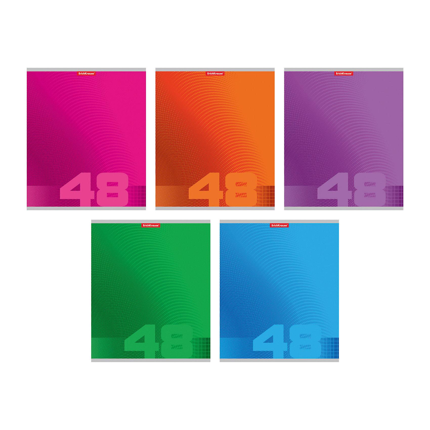 Тетрадь 48 л, упаковка из 5 шт.Бумажная продукция<br>Тетрадь 48 листов, 5 шт.<br><br>Характеристики:<br><br>• Количество: 5 шт.<br>• Формат: А5<br>• Внутренний блок: 48 листов, клетка, офсет<br>• Тип крепления: скрепка<br>• Обложка: мелованный картон<br><br>Комплект тетрадей в клетку «Fusion» выполнен в формате А5. Отличная полиграфия и качественная бумага обеспечат высокое качество письма. Обложка из мелованного картона позволит сохранять тетрадь в аккуратном виде в течение всего периода использования.<br><br>Тетрадь 48 листов, 5 шт. можно купить в нашем интернет-магазине.<br><br>Ширина мм: 170<br>Глубина мм: 50<br>Высота мм: 205<br>Вес г: 521<br>Возраст от месяцев: 60<br>Возраст до месяцев: 204<br>Пол: Унисекс<br>Возраст: Детский<br>SKU: 5540105