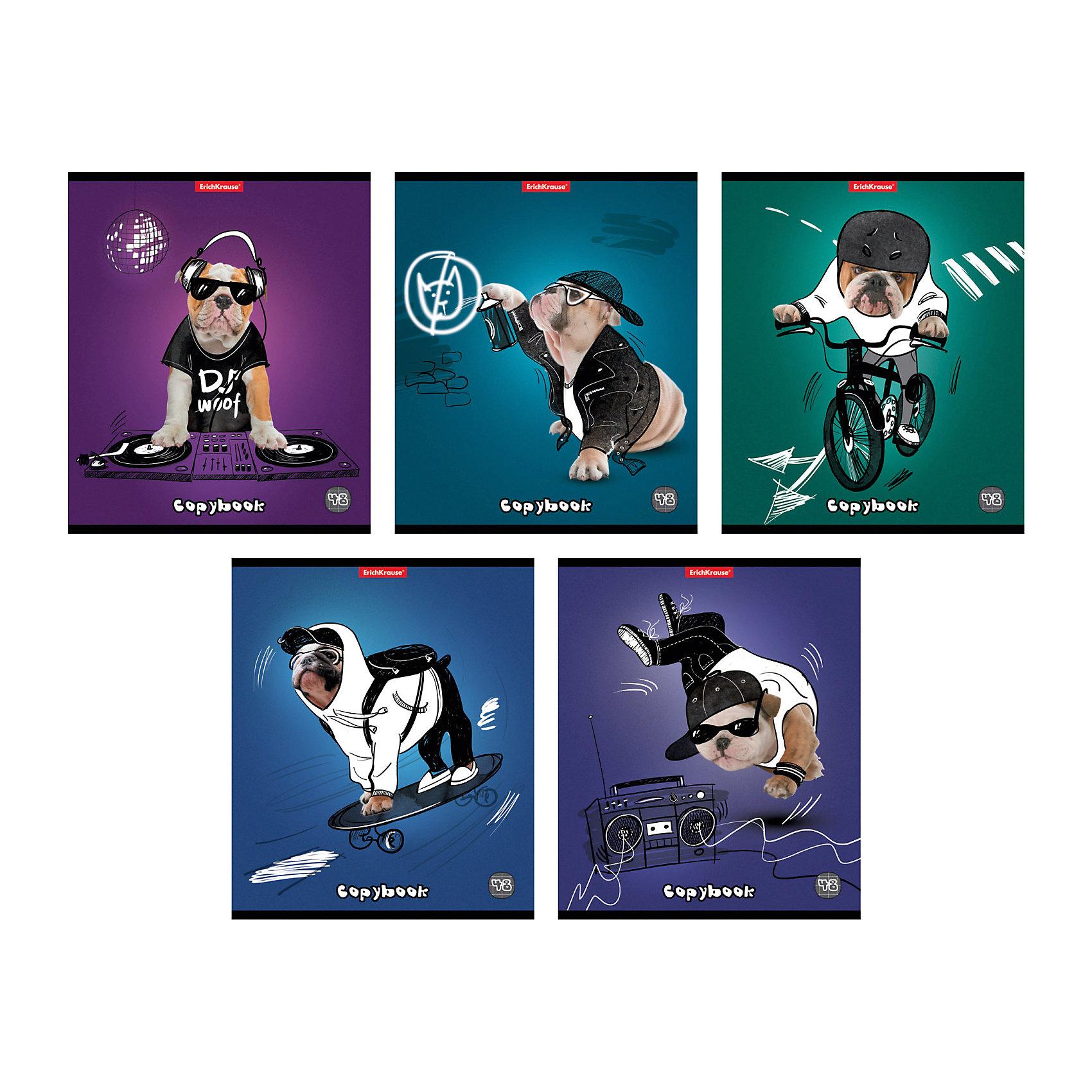 Тетрадь 48 л Dog rules, упаковка из 5 шт.Бумажная продукция<br>Тетрадь 48 листов Dog rules, 5 шт.<br><br>Характеристики:<br><br>• Количество: 5 шт.<br>• Формат: А5<br>• Внутренний блок: 48 листов, клетка, офсет<br>• Тип крепления: скрепка<br>• Обложка: мелованный картон<br><br>Комплект тетрадей в клетку Dog rules выполнен в формате А5. Отличная полиграфия и качественная бумага обеспечат высокое качество письма. Обложка из мелованного картона позволит сохранять тетрадь в аккуратном виде в течение всего периода использования.<br><br>Тетрадь 48 листов Dog rules, 5 шт. можно купить в нашем интернет-магазине.<br><br>Ширина мм: 170<br>Глубина мм: 50<br>Высота мм: 205<br>Вес г: 521<br>Возраст от месяцев: 60<br>Возраст до месяцев: 204<br>Пол: Унисекс<br>Возраст: Детский<br>SKU: 5540107