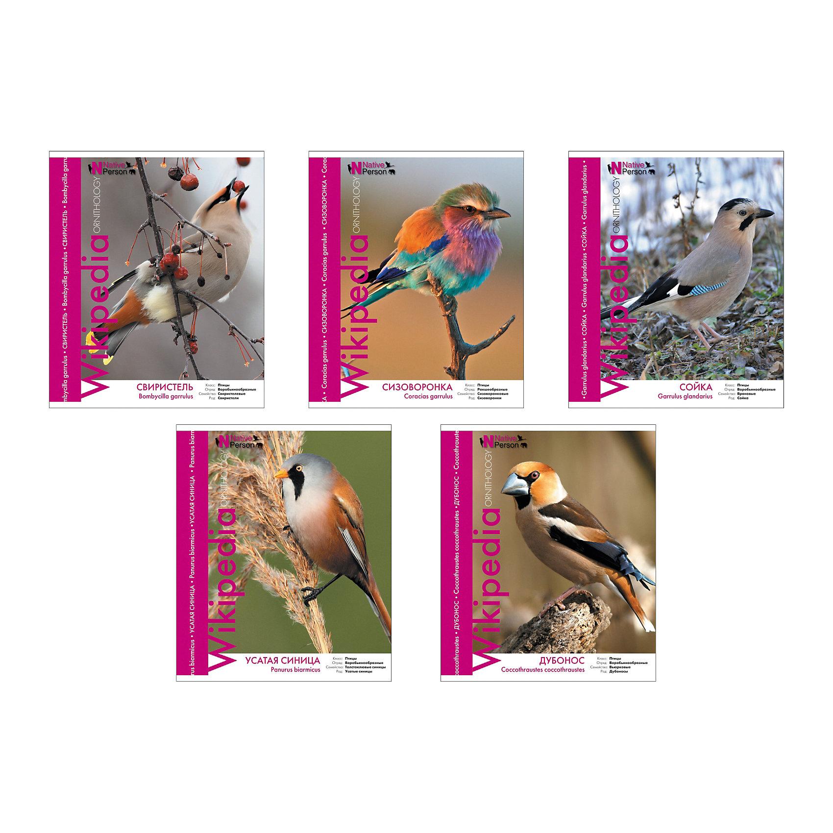Тетрадь 48 л Птицы, УФ-лак, упаковка из 5 шт.Бумажная продукция<br>Тетрадь 48 листов Птицы, УФ-лак, 5 шт.<br><br>Характеристики:<br><br>• Количество: 5 шт.<br>• Формат: А5<br>• Внутренний блок: 48 листов, клетка, офсет 60 г/м2<br>• Тип крепления: скрепка<br>• Обложка: мелованный картон, УФ-лак<br><br>Комплект тетрадей в клетку Птицы выполнен в формате А5. Всего в данной серии 5 видов птиц: свиристель, сизоворонка, сойка, усатая синица, дубонос. На лицевой стороне обложки имеется справочная информация о каждом из видов изображённых птиц. Обложка выполнена из мелованного картона, выборочно покрыта УФ-лаком, что позволит сохранять тетрадь в аккуратном виде в течение всего периода использования. Отличная полиграфия и качественная бумага обеспечат высокое качество письма.<br><br>Тетрадь 48 листов Птицы, УФ-лак, 5 шт. можно купить в нашем интернет-магазине.<br><br>Ширина мм: 170<br>Глубина мм: 50<br>Высота мм: 205<br>Вес г: 521<br>Возраст от месяцев: 60<br>Возраст до месяцев: 204<br>Пол: Унисекс<br>Возраст: Детский<br>SKU: 5540109