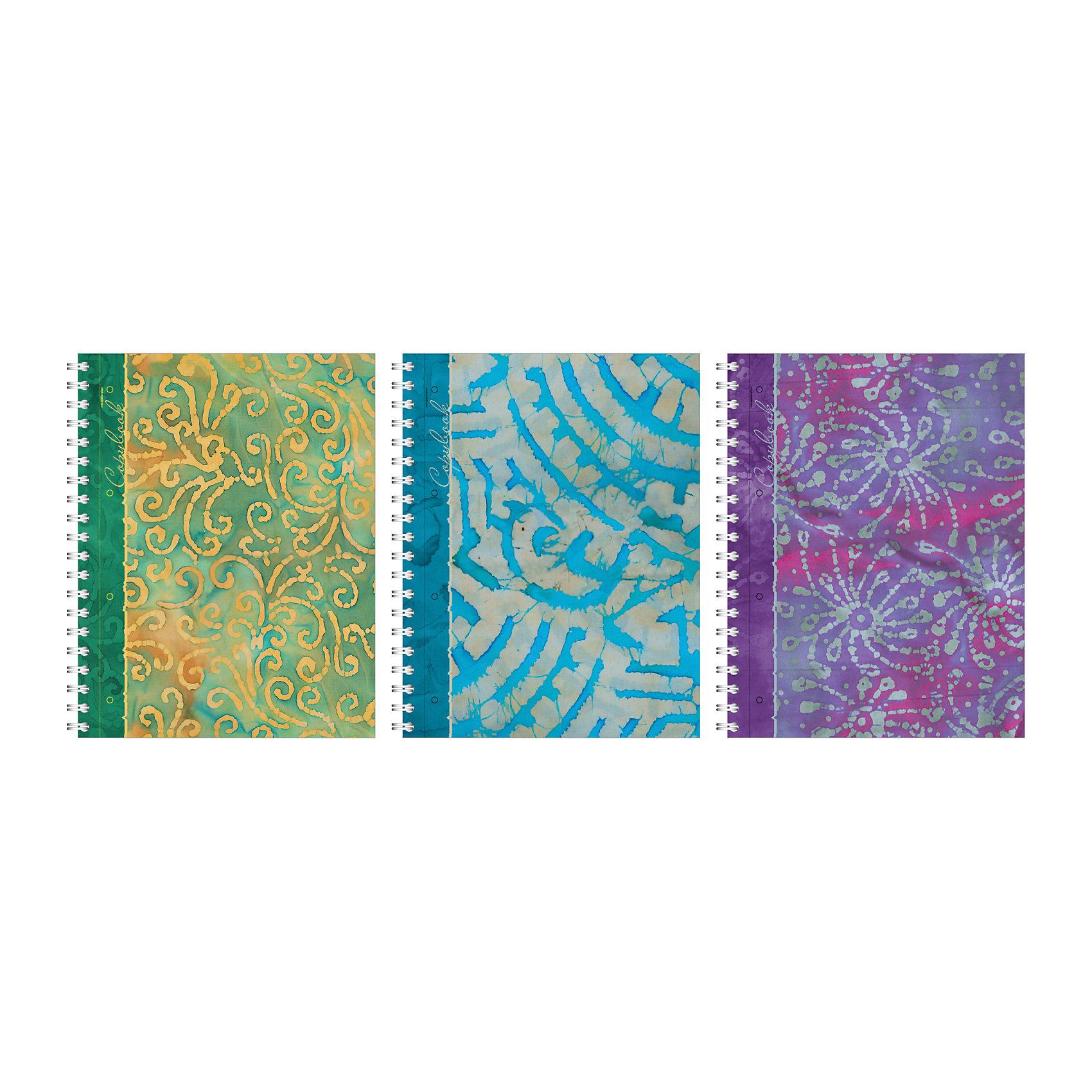 Тетрадь на спирали  А4, 120 листов Батик, упаковка из 2 шт.Бумажная продукция<br>Тетрадь на спирали  А4, 120 листов Батик, 2 шт.<br><br>Характеристики:<br><br>• Количество: 2 шт.<br>• Формат: А4<br>• Внутренний блок: 120 листов, клетка, офсет 55 г/м2<br>• Тип крепления: евроспираль<br>• Обложка: картон жесткий ламинированный, матовая ламинация<br><br>Комплект тетрадей в клетку «Батик» выполнен в формате А4. Отличная полиграфия и качественная бумага обеспечат высокое качество письма. Обложка изготовлена из жесткого ламинированного картона, что позволит сохранять тетрадь в аккуратном виде в течение всего периода использования. Практичное и надежное крепление – евроспираль - позволит полностью открывать тетрадь и легко отрывать листы.<br><br>Тетрадь на спирали  А4, 120 листов Батик, 2 шт. можно купить в нашем интернет-магазине.<br><br>Ширина мм: 240<br>Глубина мм: 180<br>Высота мм: 300<br>Вес г: 2380<br>Возраст от месяцев: 60<br>Возраст до месяцев: 204<br>Пол: Унисекс<br>Возраст: Детский<br>SKU: 5540124