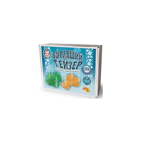 Бурлящий Гейзер Самолёт и МашинкаНаборы детской косметики<br>Набор для изготовления бомбочек для ванны «Бурлящий гейзер»  в виде забавных фигурок,  включает в себя все необходимые материалы и инструменты, чтобы получились красивые солевые шипучки. В воде бомбочки превратятся в густую пену, в которой так приятно нежиться. &#13;<br>В состав набора входит: минеральная соль, сода, ложечка, лимонная кислота, контейнер, формочки, пищевой краситель, инструкция.&#13;<br>Для детей от 7 лет.&#13;<br>Изготовитель: ООО Азбука Тойс.&#13;<br>Сделано в России<br><br>Ширина мм: 220<br>Глубина мм: 170<br>Высота мм: 70<br>Вес г: 478<br>Возраст от месяцев: 60<br>Возраст до месяцев: 2147483647<br>Пол: Унисекс<br>Возраст: Детский<br>SKU: 5540677