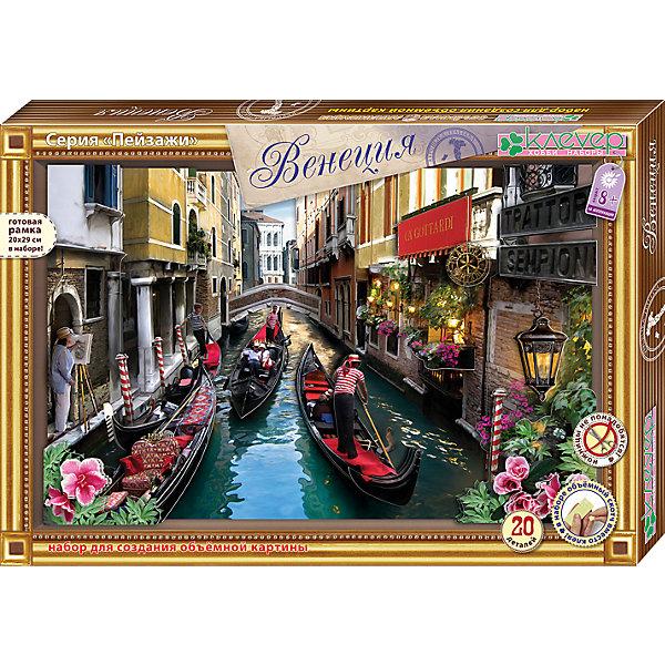 Набор для изготовления картины  ВенецияБумага<br>Характеристики:<br><br>• Коллекция: объемная аппликация<br>• Тематика картины: городской пейзаж<br>• Уровень сложности: средний<br>• Материал: картон, бумага, скотч <br>• Комплектация: набор деталей из цветной бумаги, картонная основа, рамка, скотч, инструкция<br>• Форма картины: 3d<br>• Размеры готовой картины (Ш*В): 29*20 см<br>• Размеры (Д*Ш*В): 29*20*30 см<br>• Вес: 90 г <br>• Упаковка: картонная коробка<br><br>Уникальность данных наборов заключается в том, что они состоят из материалов разных фактур. Благодаря использованию двухстороннего скотча, рабочее место и одежда ребенка не будет испачкана, а поделка будет выглядеть объемной и аккуратной.<br><br>Набор для изготовления картины Венеция – состоит из всех необходимых материалов для создания объемной аппликации. На картине изображена одна из улочек старинного города Венеции. Для оформления картины в наборе предусмотрена рамка.<br><br>Набор для изготовления картины Венеция можно купить в нашем интернет-магазине.<br><br>Ширина мм: 290<br>Глубина мм: 200<br>Высота мм: 300<br>Вес г: 90<br>Возраст от месяцев: 60<br>Возраст до месяцев: 144<br>Пол: Унисекс<br>Возраст: Детский<br>SKU: 5541484