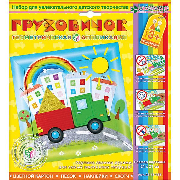 Набор для изготовления картины Грузовичок, для детей старше 3 летБумага<br>Характеристики:<br><br>• Коллекция: геометрическая аппликация<br>• Уровень сложности: средний<br>• Материал: картон, бумага, скотч<br>• Комплектация: набор картонных элементов, самоклеящаяся пленка, картонная рамка, скотч, инструкция<br>• Не требуется применение ножниц<br>• Форма картины: 3d<br>• Размеры готовой картинки (Ш*В): 21*21 см<br>• Размеры (Д*Ш*В): 21,6*23,5*2 см<br>• Вес: 66 г <br>• Упаковка: картонная коробка<br><br>Уникальность данных наборов заключается в том, что они состоят из материалов разных фактур. Благодаря использованию двухстороннего скотча, рабочее место и одежда ребенка не будет испачкана, а поделка будет выглядеть объемной и аккуратной.<br><br>Набор для изготовления картины Грузовичок, для детей старше 3 лет состоит из всех необходимых материалов для создания картины, на которой изображен яркий грузовичок. В комплекте предусмотрена рамка для оформления поделки.<br><br>Набор для изготовления картины Грузовичок, для детей старше 3 лет можно купить в нашем интернет-магазине.<br><br>Ширина мм: 216<br>Глубина мм: 235<br>Высота мм: 20<br>Вес г: 66<br>Возраст от месяцев: 36<br>Возраст до месяцев: 60<br>Пол: Мужской<br>Возраст: Детский<br>SKU: 5541504
