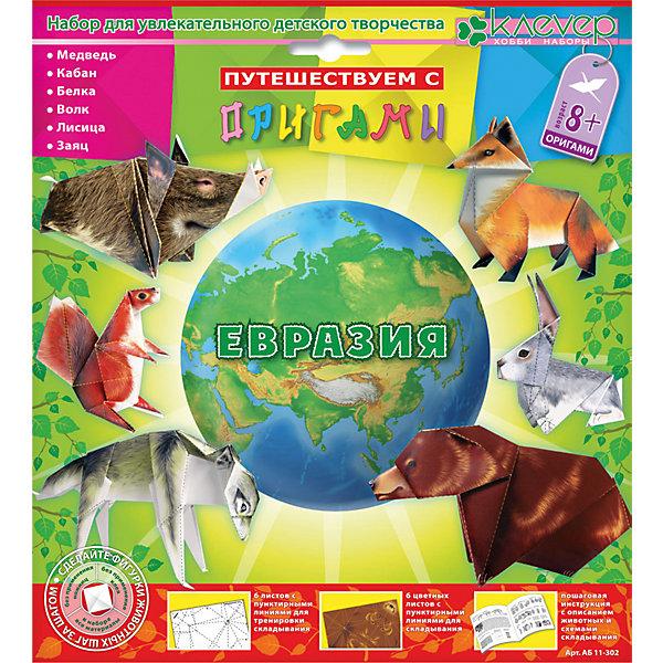 Набор для изготовления фигурок-оригами ЕвразияБумага<br>Характеристики:<br><br>• Коллекция: оригами<br>• Тематика: дикие животные<br>• Уровень сложности: средний<br>• Материал: бумага<br>• Комплектация: тренировочные листы – 6 шт., цветные листы – 6 шт., брошюра-инструкция<br>• Размеры (Д*Ш*В): 21,3*23,5*3 см<br>• Вес: 66 г <br>• Упаковка: картонная коробка<br><br>Набор для изготовления фигурок-оригами Евразия состоит из набора цветных и черно-белых листов, презназначенных для освоения приемов складывания фигурок. На каждый лист нанесены пунктирные линии, которые облегчают процесс обучения оригами.<br><br>Набор для изготовления фигурок-оригами Евразия можно купить в нашем интернет-магазине.<br><br>Ширина мм: 213<br>Глубина мм: 235<br>Высота мм: 30<br>Вес г: 66<br>Возраст от месяцев: 96<br>Возраст до месяцев: 144<br>Пол: Унисекс<br>Возраст: Детский<br>SKU: 5541601