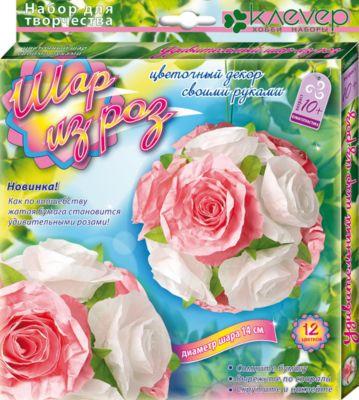 Клевер Набор для изготовления картины Шар из роз