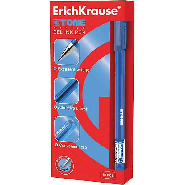 Ручка гелевая G-TONE, 12 шт., Erich KrauseПисьменные принадлежности<br>Ручка гелевая G-TONE, 12 шт., Erich Krause.<br><br>Характеристики:<br><br>• Количество: 12 шт.<br>• Материал: пластик<br>• Корпус: полупрозрачный тонированный синий<br>• Длина стержня: 12,9 см.<br>• Сменный стержень<br>• Рекомендуется использовать стержень ErichKrause<br>• Толщина линии: 0,5 мм.<br>• Цвет чернил: синий<br><br>Удобная гелевая ручка из полупрозрачного тонированного пластика обеспечивает чистое и четкое письмо. Рифление в зоне захвата препятствует скольжению пальцев.<br><br>Ручку гелевую G-TONE, 12 шт., Erich Krause можно купить в нашем интернет-магазине.<br><br>Ширина мм: 70<br>Глубина мм: 155<br>Высота мм: 250<br>Вес г: 120<br>Возраст от месяцев: 84<br>Возраст до месяцев: 2147483647<br>Пол: Унисекс<br>Возраст: Детский<br>SKU: 5543296