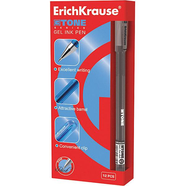 Ручка гелевая G-TONE, 12 шт., Erich Krause (черный цвет)Письменные принадлежности<br>Ручка гелевая G-TONE, 12 шт., Erich Krause.<br><br>Характеристики:<br><br>• Количество: 12 шт.<br>• Материал: пластик<br>• Корпус: полупрозрачный тонированный черный<br>• Длина стержня: 12,9 см.<br>• Сменный стержень<br>• Рекомендуется использовать стержень ErichKrause<br>• Толщина линии: 0,5 мм.<br>• Цвет чернил: черный<br><br>Удобная гелевая ручка из полупрозрачного тонированного пластика обеспечивает чистое и четкое письмо. Рифление в зоне захвата препятствует скольжению пальцев.<br><br>Ручку гелевую G-TONE, 12 шт., Erich Krause можно купить в нашем интернет-магазине.<br><br>Ширина мм: 70<br>Глубина мм: 155<br>Высота мм: 250<br>Вес г: 120<br>Возраст от месяцев: 84<br>Возраст до месяцев: 2147483647<br>Пол: Унисекс<br>Возраст: Детский<br>SKU: 5543297