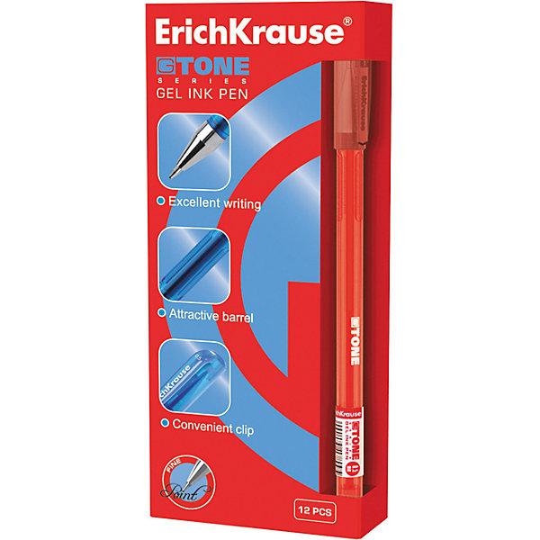 Ручка гелевая G-TONE, 12 шт., Erich KrauseПисьменные принадлежности<br>Ручка гелевая G-TONE, 12 шт., Erich Krause.<br><br>Характеристики:<br><br>• Количество: 12 шт.<br>• Материал: пластик<br>• Корпус: полупрозрачный тонированный красный<br>• Длина стержня: 12,9 см.<br>• Сменный стержень<br>• Рекомендуется использовать стержень ErichKrause<br>• Толщина линии: 0,5 мм.<br>• Цвет чернил: красный<br><br>Удобная гелевая ручка из полупрозрачного тонированного пластика обеспечивает чистое и четкое письмо. Рифление в зоне захвата препятствует скольжению пальцев.<br><br>Ручку гелевую G-TONE, 12 шт., Erich Krause можно купить в нашем интернет-магазине.<br><br>Ширина мм: 70<br>Глубина мм: 155<br>Высота мм: 250<br>Вес г: 120<br>Возраст от месяцев: 84<br>Возраст до месяцев: 2147483647<br>Пол: Унисекс<br>Возраст: Детский<br>SKU: 5543298
