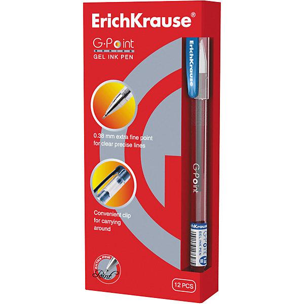 Ручка гелевая G-POINT, 12 шт., Erich KrauseПисьменные принадлежности<br>Ручка гелевая G-POINT, 12 шт., Erich Krause.<br><br>Характеристики:<br><br>• Количество: 12 шт.<br>• Материал: пластик<br>• Цвет корпуса: прозрачный с синими деталями<br>• Длина стержня: 12,9 см.<br>• Сменный стержень<br>• Рекомендуется использовать стержень ErichKrause G-POINT<br>• Игольчатый пишущий узел<br>• Пишущий узел: 0,38 мм.<br>• Цвет чернил: синий<br><br>Удобная гелевая ручка с прозрачным корпусом для контроля уровня чернил. Металлизированный наконечник и игольчатый пишущий узел обеспечивают ультратонкое и четкое письмо.<br><br>Ручку гелевую G-POINT, 12 шт., Erich Krause можно купить в нашем интернет-магазине.<br><br>Ширина мм: 70<br>Глубина мм: 155<br>Высота мм: 250<br>Вес г: 120<br>Возраст от месяцев: 84<br>Возраст до месяцев: 2147483647<br>Пол: Унисекс<br>Возраст: Детский<br>SKU: 5543299