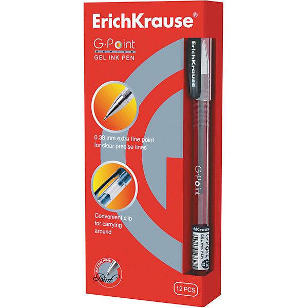 Ручка гелевая G-POINT, 12 шт., Erich KrauseПисьменные принадлежности<br>Ручка гелевая G-POINT, 12 шт., Erich Krause.<br><br>Характеристики:<br><br>• Количество: 12 шт.<br>• Материал: пластик<br>• Цвет корпуса: прозрачный с черными деталями<br>• Длина стержня: 12,9 см.<br>• Сменный стержень<br>• Рекомендуется использовать стержень ErichKrause G-POINT<br>• Игольчатый пишущий узел<br>• Пишущий узел: 0,38 мм.<br>• Цвет чернил: черный<br><br>Удобная гелевая ручка с прозрачным корпусом для контроля уровня чернил. Металлизированный наконечник и игольчатый пишущий узел обеспечивают ультратонкое и четкое письмо.<br><br>Ручку гелевую G-POINT, 12 шт., Erich Krause можно купить в нашем интернет-магазине.<br>Ширина мм: 70; Глубина мм: 155; Высота мм: 250; Вес г: 120; Возраст от месяцев: 84; Возраст до месяцев: 2147483647; Пол: Унисекс; Возраст: Детский; SKU: 5543300;