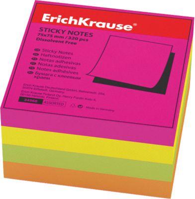 Блок бумаги с клеевым краем Неон , 75х75мм., Erich Krause