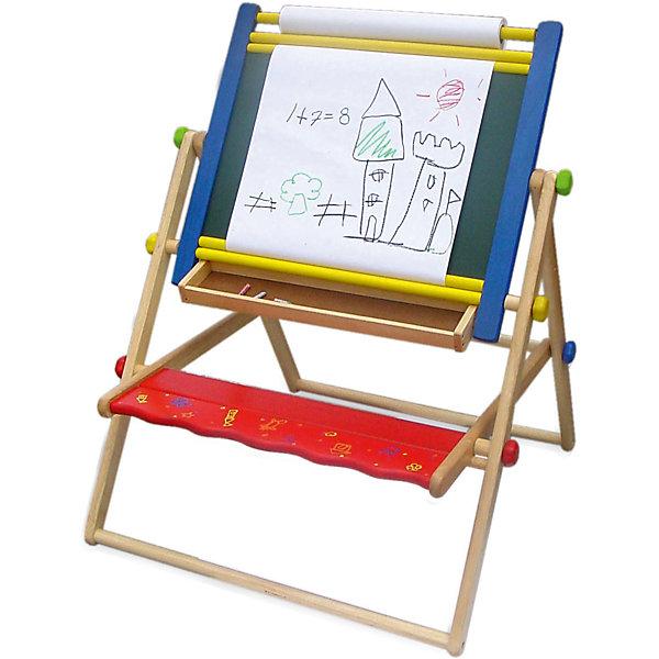 Парта-трансформер 5 в 1, Im ToyДетские столы и стулья<br>Парта-трансформер 5 в 1, Im Toy.<br><br>Характеристики:<br><br>• Для детей в возрасте: от 3 лет<br>• Материал: древесина редких ценных пород, которые растут в экологически-чистых районах Юго-Восточной Азии<br>• Высота парты: 110 см.<br>• Размер скамеечки: 18х50 см.<br>• Размер рабочей поверхности: 47х39 см.<br>• Размер упаковки: 80х55х11 см.<br>• Вес: 9,1 кг.<br><br>Парта-трансформер 5 в 1, Im Toy преобразовывается в мольберт с вертикальной ориентацией рабочей поверхности (со скамеечкой или без нее) и парту со скамеечкой с горизонтальной рабочей поверхностью. У рабочей поверхности две стороны: черная грифельная, на которой можно рисовать мелками и белая, на которой можно рисовать фломастерами. А также предусмотрен крепеж для рулона с бумагой и полочка для аксессуаров. Парта-трансформер изготовлена из ценных пород древесины, не имеет острых углов и кромок, окрашена безопасными красками насыщенных цветов. Она устойчивая и крепкая. В сложенном виде не занимает много места.<br><br>Парту-трансформер 5 в 1, Im Toy можно купить в нашем интернет-магазине.<br><br>Ширина мм: 82<br>Глубина мм: 11<br>Высота мм: 57<br>Вес г: 8000<br>Возраст от месяцев: 36<br>Возраст до месяцев: 72<br>Пол: Унисекс<br>Возраст: Детский<br>SKU: 5543466