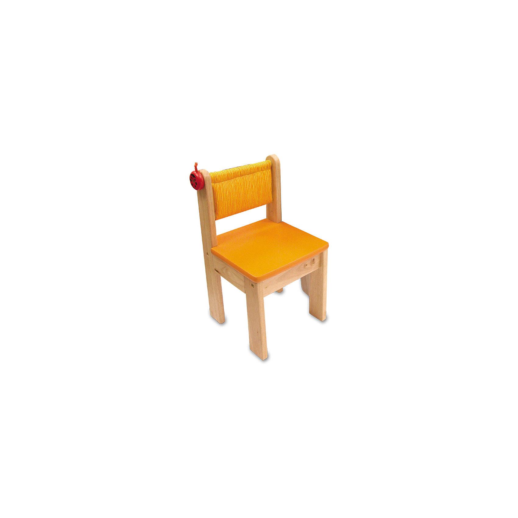 Стульчик, Im Toy, оранжевыйМебель<br>Стульчик, Im Toy, оранжевый.<br><br>Характеристики:<br><br>• Для детей в возрасте: от 3 до 6 лет<br>• Материал: древесина, текстиль<br>• Цвет: оранжевый<br>• Размеры сидения: 31 x 31 см.<br>• Высота сидения от пола: 30 см.<br>• Высота спинки: 56 см.<br>• Размер стульчика: 31 x 31 x 56 см.<br>• Размер упаковки: 32 x 8 x 58 см.<br>• Вес: 3,7 кг.<br><br>Удобный и функциональный стульчик классического дизайна замечательно подойдёт для занятий за детским столиком. У стульчика удобная спинка, устойчивая конструкция, широкие ножки и безопасные закруглённые углы. Спинка стульчика обтянута тканевым чехлом с мягкой набивкой (набивка синтетическое волокно), задняя часть чехла имеет удобный вместительный кармашек для хранения мелких предметов. При необходимости чехол легко снимается. Сбоку стульчика расположен крючок в виде забавной божьей коровки. Стульчик изготовлен из ценных пород древесины, окрашен безопасными красками.<br><br>Стульчик, Im Toy, оранжевый можно купить в нашем интернет-магазине.<br><br>Ширина мм: 31<br>Глубина мм: 31<br>Высота мм: 56<br>Вес г: 3700<br>Возраст от месяцев: 36<br>Возраст до месяцев: 72<br>Пол: Унисекс<br>Возраст: Детский<br>SKU: 5543468