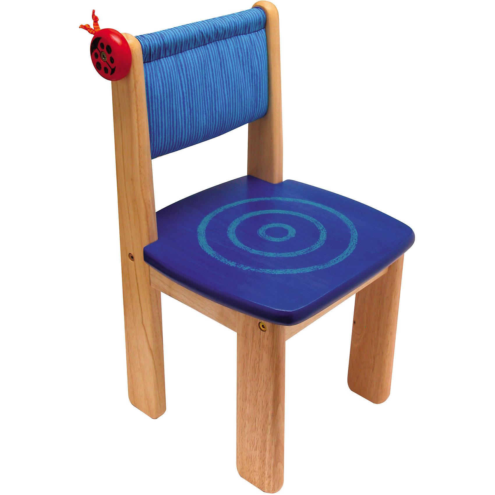 Стульчик деревянный, Im ToyМебель<br>Стульчик деревянный, Im Toy.<br><br>Характеристики:<br><br>• Для детей в возрасте: от 3 до 6 лет<br>• Материал: древесина, текстиль<br>• Цвет: ярко-синий<br>• Размеры сидения: 31 x 31 см.<br>• Высота сидения от пола: 30 см.<br>• Высота спинки: 56 см.<br>• Размер стульчика: 31 x 31 x 56 см.<br>• Размер упаковки: 32 x 8 x 58 см.<br>• Вес: 3,7 кг.<br><br>Удобный и функциональный стульчик классического дизайна замечательно подойдёт для занятий за детским столиком. У стульчика удобная спинка, устойчивая конструкция, широкие ножки и безопасные закруглённые углы. Спинка стульчика обтянута тканевым чехлом с мягкой набивкой (набивка синтетическое волокно), задняя часть чехла имеет удобный вместительный кармашек для хранения мелких предметов. При необходимости чехол легко снимается. Сбоку стульчика расположен крючок в виде забавной божьей коровки. Стульчик изготовлен из ценных пород древесины, окрашен безопасными красками.<br><br>Стульчик деревянный, Im Toy можно купить в нашем интернет-магазине.<br><br>Ширина мм: 31<br>Глубина мм: 56<br>Высота мм: 31<br>Вес г: 3700<br>Возраст от месяцев: 36<br>Возраст до месяцев: 72<br>Пол: Унисекс<br>Возраст: Детский<br>SKU: 5543469