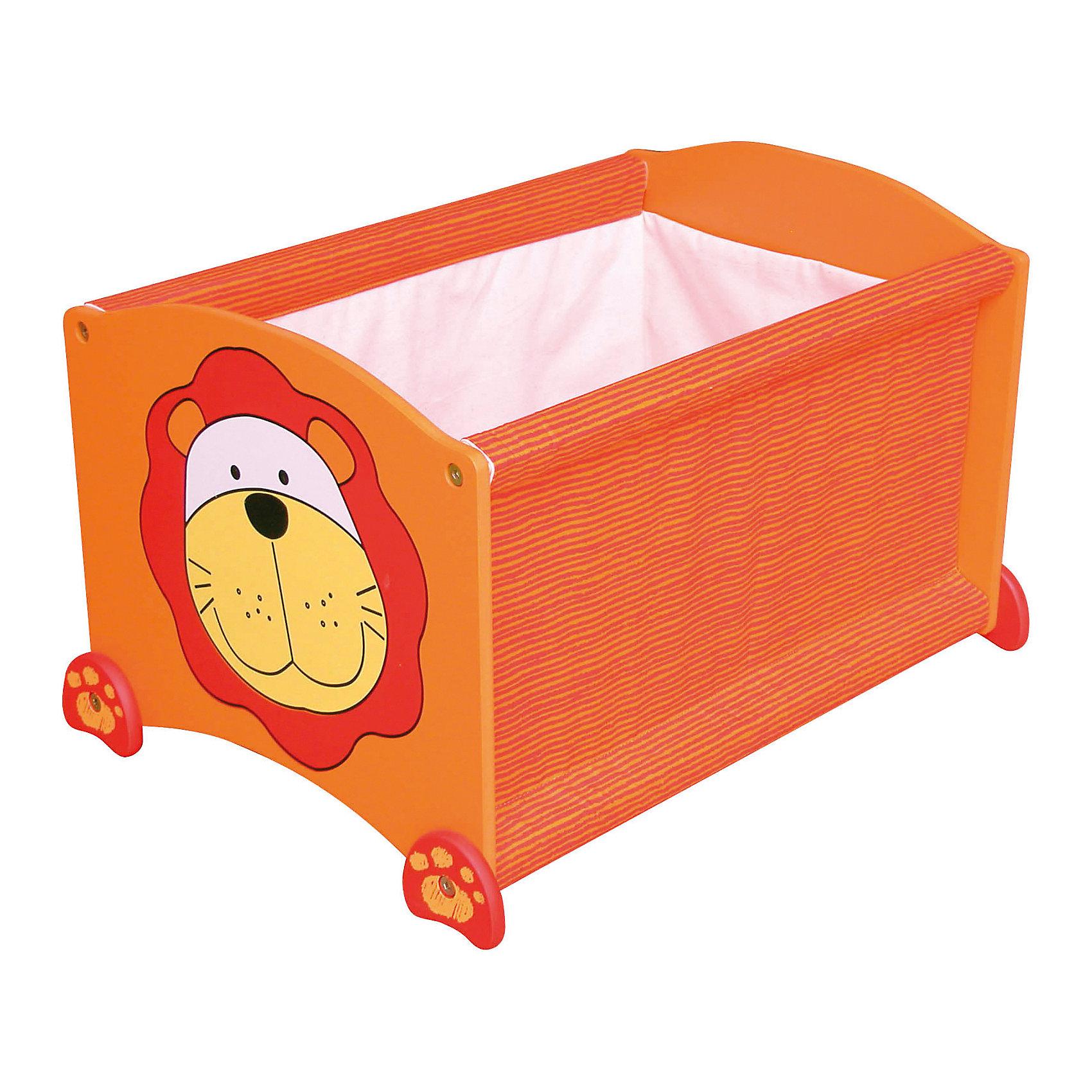 Ящик для хранения Тигр, Im Toy, оранжевыйЯщики для игрушек<br>Ящик для хранения Тигр, Im Toy, оранжевый.<br><br>Характеристики:<br><br>• Для детей в возрасте: от 3 до 6 лет<br>• Материал: древесина, текстиль<br>• Цвет: оранжевый<br>• Размер: 34 х 44 х 32,5 см.<br>• Вес: 2,583 кг.<br><br>Ящик для хранения позволит вам сохранять порядок в детской комнате, а также приучать малыша к аккуратности и к тому, что все вещи должны лежать на своих местах. Ящик выполнен в виде прямоугольной конструкции оранжевого цвета с изображением забавной мордашки тигренка. Он достаточно вместителен. Ящик имеет устойчивое основание, поэтому малыш не опрокинет его во время использования. Углы изделия закруглены. Ящик изготовлен из высококачественной экологичной древесины и текстиля, окрашен безопасными, стойкими к истиранию красителями.<br> <br>Ящик для хранения Тигр, Im Toy, оранжевый можно купить в нашем интернет-магазине.<br><br>Ширина мм: 34<br>Глубина мм: 44<br>Высота мм: 33<br>Вес г: 2583<br>Возраст от месяцев: 36<br>Возраст до месяцев: 72<br>Пол: Унисекс<br>Возраст: Детский<br>SKU: 5543472