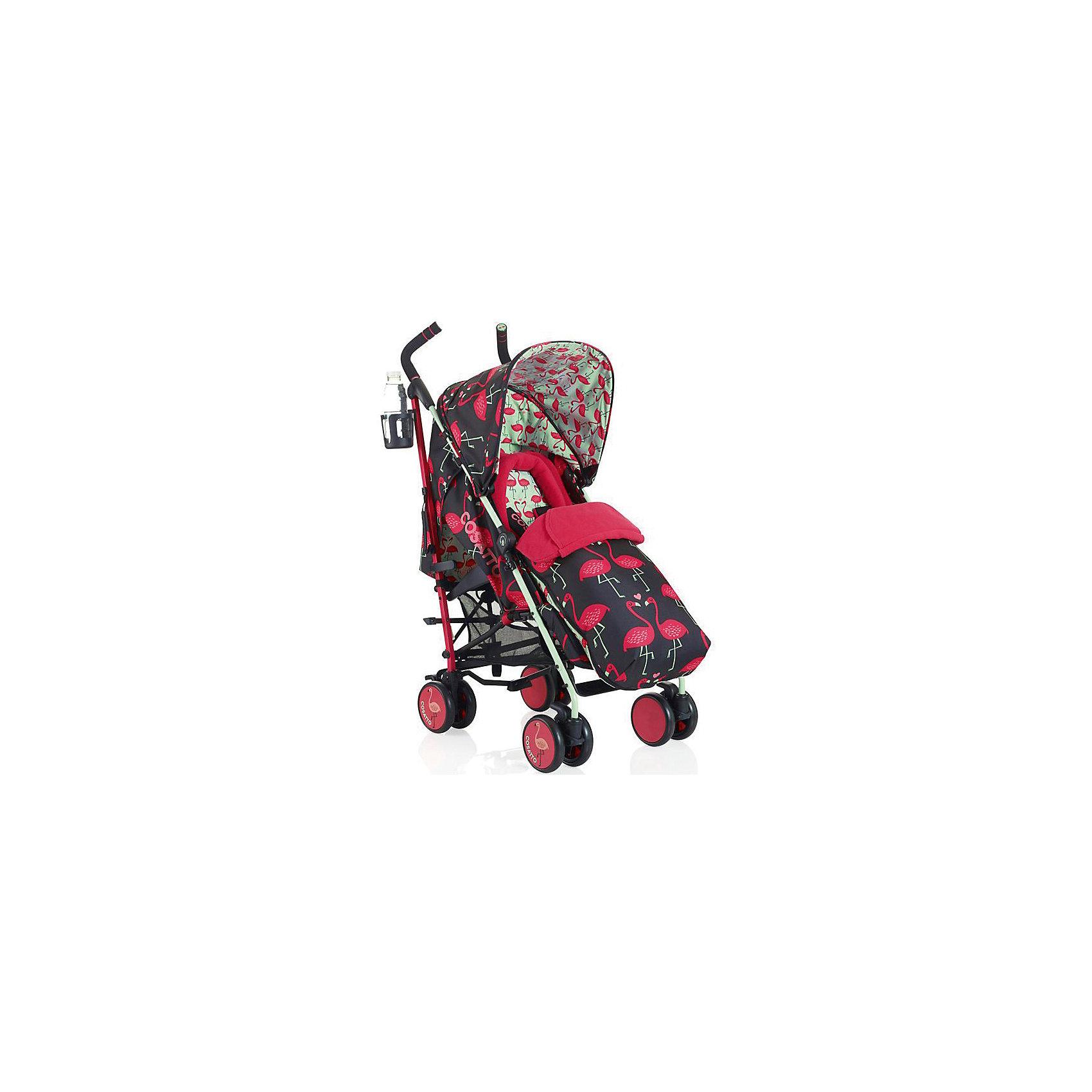 Коляска-трость Cosatto Supa, Flamingo FlingКоляски-трости<br>Стильная коляска станет для родителей не только незаменимой вещью, но и стильным аксессуаром. Функциональность, дизайн и маневренность – все это – новая модель от Cosatto. Все материалы, использованные при изготовлении, безопасны и отвечают требованиям по качеству продукции.<br><br>Дополнительные характеристики: <br><br>цвет: Flamingo Fling;<br>возраст: 6 месяцев – 3 года;<br>регулируемый капюшон;<br>механизм складывания: трость;<br>регулировка спинки;<br>ножной тормоз;<br>пятиточечные ремни безопасности;<br>габариты: 78 х 48,5 х 110 см;<br>материал шасси: алюминий;<br>комплектация: блок для прогулок, складывающиеся шасси, подголовник, подстаканник, защита от дождя и солнца, регулируемая ручка, конверт - муфта.<br><br>ВНИМАНИЕ!!! В комплектацию коляски не входит бампер, его можно купить отдельно.<br><br>Коляску-трость SUPA от компании Cosatto можно приобрести в нашем магазине.<br><br>Ширина мм: 112<br>Глубина мм: 280<br>Высота мм: 280<br>Вес г: 11800<br>Возраст от месяцев: 6<br>Возраст до месяцев: 36<br>Пол: Унисекс<br>Возраст: Детский<br>SKU: 5543590