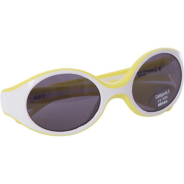 Солнцезащитные очки Sungalesses Baby 360°, р-р S, Beaba, лаймСолнцезащитные очки<br>Французская пластиковая долина: Ойонна : <br>Настоящее ноу-хау для Франции и всего мира<br>Специализированная экспертиза. Весомые аргументы для наших покупателей: <br>Дизайн, пресс-формы, и сборка – всё делается во Франции<br>Неоспоримое конкурентное преимущество над другими очками<br>Гарантия качества в мире оптики<br>Множество сертификатов. Соответствие стандартам очков ISO 12311-1   ISO 12312-1 (стандарты 2015)<br>Гибкий каркас из полипропилена и ABS <br>Короткие дужки для удержания очков в сидячей коляске.Категория 3 : сильная защита, затемнённые линзы, подходящие для отдыха на море и в горах. Новое направление стратегии B?aba : <br>Использование линз 3-й категории в наших очках (за исключением малышей с очень чувствительными глазами)<br>Стёкла пропускают 27-30% света ? дети наконец-то не пытаются снять очки ! <br>100% защита от УФ-лучей <br>Реальное конкурентное преимущество – настоящее ноу-хау благодаря техническим аспектам.<br><br>Ширина мм: 150<br>Глубина мм: 40<br>Высота мм: 80<br>Вес г: 40<br>Возраст от месяцев: 9<br>Возраст до месяцев: 18<br>Пол: Унисекс<br>Возраст: Детский<br>SKU: 5543593