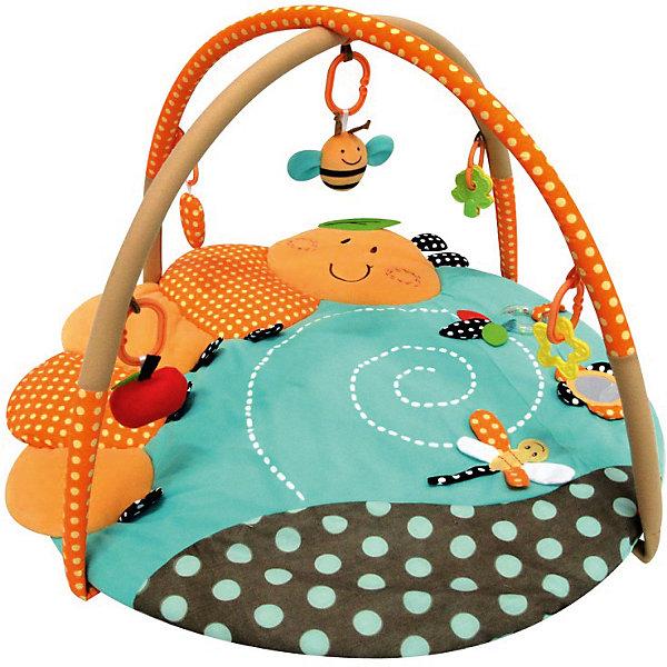 Развивающий игровой коврик Гусеница, MERXРазвивающие коврики<br>Развивающий игровой коврик для новорожденных и младенцев. Коврик обеспечит вашему ребенку комфортное и безопасное место для игры, обучения, развития и отдыха.Функции:<br> - Игрушки и 3D лепестки для развития моторики;<br> - Музыкальная кнопка, пищалки и шуршалки для развития слуха;                                      <br> - Использованы разнообразные тактильные материалы;<br> - Разноцветный красочный дизайн и зеркальце, способствующие развитию зрения;<br> - Все игрушки, подвешенные на дугах, можно снять с колец и использовать отдельно от коврика;<br> - Компановка элементов коврика вдохновляет ребенка к движению и игре;<br>                                                Комплектность: Игровой коврик с дугами и аксессуарами.<br>На коврике: Мызыкальная кнопка (работает от батареек.... батарейки замене не подлежат), Пищалка, Шуршащие 3D лепестки для развития моторики и слуха, Пластиковое зеркальце, Пластиковое кольцо-погремушка. <br>На дугах: Пластиковое кольцо с мягкой игрушкой с пищалкой, Пластиковое кольцо с мягкой игрушкой с погремушкой,  Пластиковое кольцо с ключами для развития моторики,  Пластиковое кольцо с прорезывателем.Коврик, внешний слой - Полиэстер; Коврик, наполнитель - Полиэстер; Дуга, каркас - Фиберглас; Дуга внешний слой - Полиэстер; Дуга, наполнитель - Полиэстер; Пластиковая игрушка, прорезыватель  - Пластик (ABS, PP, PE); Мягкая игрушка, внешний слой и наполнитеь - Полиэстер.98 х 95 х 50 см<br><br>Ширина мм: 980<br>Глубина мм: 950<br>Высота мм: 500<br>Вес г: 986<br>Возраст от месяцев: 0<br>Возраст до месяцев: 36<br>Пол: Унисекс<br>Возраст: Детский<br>SKU: 5543775