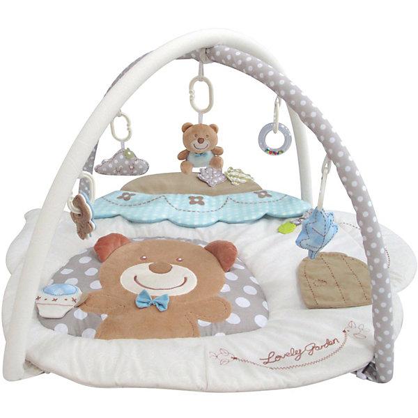 Развивающий игровой коврик Мишутка, MERXРазвивающие коврики<br>Развивающий игровой коврик для новорожденных и младенцев. Коврик обеспечит вашему ребенку комфортное и безопасное место для игры, обучения, развития и отдыха.Функции:<br> - Игрушки и 3D лепестки для развития моторики;<br> - Пищалки и шуршалки для развития слуха;                                      <br> - Использованы разнообразные тактильные материалы;<br> - дизайн в мягких, успокаивающих тонах; <br> - Все игрушки, подвешенные на дугах, можно снять с колец и использовать отдельно от коврика;<br> - Компановка элементов коврика вдохновляет ребенка к движению и игре;<br>                                                Комплектность: Игровой коврик с дугами и аксессуарами.<br>На коврике: Пищалка, Шуршащие 3D Лепестки для развития моторики и слуха. <br>На дугах: Пластиковое кольцо с мягкой игрушкой с пищалкой, Пластиковое кольцо с мягкой игрушкой с погремушкой,  Пластиковое кольцо с кольцом-погремушкой, Пластиковое кольцо с ключами для развития моторики,  Пластиковое кольцо мягкой игрушкой.Коврик, внешний слой - Полиэстер; Коврик, наполнитель - Полиэстер; Дуга, каркас - Фиберглас; Дуга внешний слой - Полиэстер; Дуга, наполнитель - Полиэстер; Пластиковая игрушка - Пластик (ABS, PP, PE); Мягкая игрушка, внешний слой и наполнитеь - Полиэстер.100 х 90 х 53 см<br><br>Ширина мм: 1000<br>Глубина мм: 900<br>Высота мм: 530<br>Вес г: 857<br>Возраст от месяцев: 0<br>Возраст до месяцев: 36<br>Пол: Унисекс<br>Возраст: Детский<br>SKU: 5543778