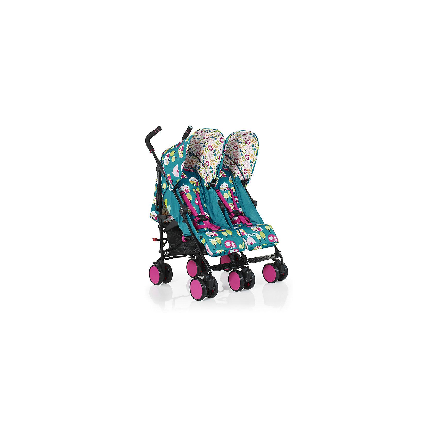Коляска-трость для двойни Cosatto, Supa Dupa Go, Happy CampersКоляски для двойни<br>Cosatto SUPA DUPA GO - это яркая коляска-трость для двойни, которая может использоваться с самого рождения. Неповторимый дизайн и компактные размеры делают коляску особенно привлекательной как для детей так и для их родителей.<br>Характеристики:<br>•Для детей с рождения до 3 лет, весом до 15 кг на каждого ребенка<br>•4 позиции наклона спинок работают независимо друг от друга, регулируются одной рукой<br>•Регулируемая подставка для ножек<br>•Регулируемая высота ручки плюс третья ручка для простоты использования<br>•Встроенный прямо в капюшон прозрачный карман для iPad или другого планшета. Ваш ребенок сможет смотреть мультфильмы прямо лежа в коляске!<br>•Полностью раскладывающийся защитный капюшон<br>•Легко складывается, автоматическая блокировка<br>•Вместительная корзина хранения<br>•Возможность стоять в сложенном состоянии без дополнительной опоры<br>•Полностью съемное сиденье для легкой чистки<br>•Блокировка передних поворотных колес<br>•Легкое алюминиевое шасси с рукояткой для переноски<br>•В комплекте:  дождевик<br>Размеры:<br>В разложенном виде (Д х Ш х В), см: 103 х 72 х 70<br>В сложенном виде (Д х Ш х В), см: 103 х 50 х 38<br>Каждое сиденье (Ш х Г), см: 28 х 19<br>Глубина каждого сиденья с поднятой подножкой: 33 см<br>Длина спинки: 48 см<br>Длина спального места: 82 см<br>Высота ручки, см: 103-106<br>Внешнее расстояние между задними колесами: 72,5 см<br>Диаметр колес: 14 см<br>Вес: 13,8 кг<br><br>Ширина мм: 107<br>Глубина мм: 300<br>Высота мм: 450<br>Вес г: 16000<br>Возраст от месяцев: 6<br>Возраст до месяцев: 36<br>Пол: Унисекс<br>Возраст: Детский<br>SKU: 5543875