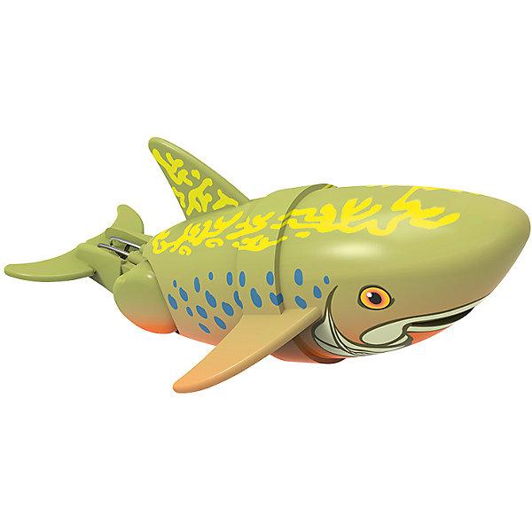 Интерактивная игрушка Рыбка-акробат - Брукс, 12 см Море чудесРоборыбки<br>Характеристики товара:<br><br>• возраст от 3 лет<br>• материал: пластик<br>• длина рыбки 12 см<br>• тип батареек: 2 x AAA / LR0.3 1.5V (мизинчиковые)<br>• наличие батареек: не входят в комплект<br>• размер упаковки 16х14х8,5 см<br>• вес упаковки 416 г.<br>• упаковка: блистер на картоне<br>• страна производитель: Китай<br><br>Рыбка-акробат Брукс Redwood — интерактивная игрушка для ванной, которая сделает процесс купания малыша веселым и увлекательным. Рыбка умеет плавать и нырять. Двигая плавниками и хвостом в разных направлениях, она начинает плыть. На корпусе имеется небольшое отверстие, в которое можно продеть веревочку и брать рыбку с собой на водоем. <br><br>Рыбку-акробат Брукс Redwood можно приобрести в нашем интернет-магазине.<br>Ширина мм: 160; Глубина мм: 140; Высота мм: 85; Вес г: 416; Возраст от месяцев: 36; Возраст до месяцев: 2147483647; Пол: Унисекс; Возраст: Детский; SKU: 5544172;
