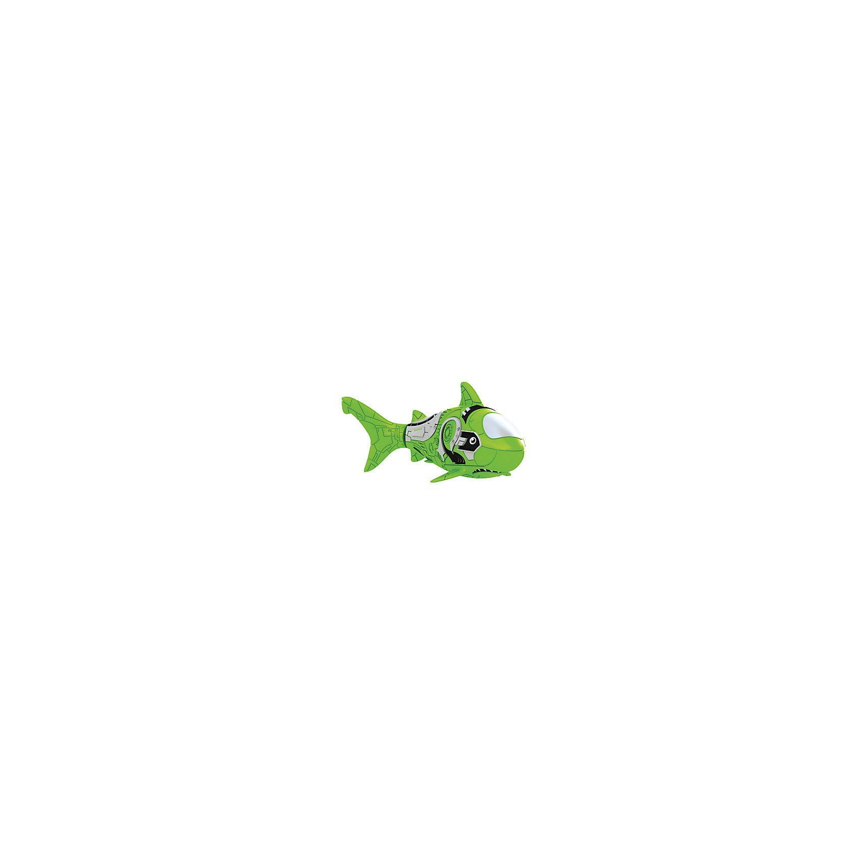 РобоРыбка Акула, зеленая, ZURUРобоРыбка Зеленая Акула при погружении в аквариум или другую емкость с водой РобоРыбка начинает плавать – опускаясь ко дну и поднимаясь к поверхности воды. Внутри рыбки в крышке под батарейками находится специальный грузик, регулирующий глубину ее погружения. Если РобоРыбка плавает на дне, не всплывая-уберите грузик; если на поверхности – добавьте грузик.  Игрушка работает от двух алкалиновых батареек А76 или RL44, которые входят в комплект (две установлены в игрушку и 2 запасные)<br><br>Ширина мм: 60<br>Глубина мм: 50<br>Высота мм: 200<br>Вес г: 720<br>Возраст от месяцев: 36<br>Возраст до месяцев: 2147483647<br>Пол: Унисекс<br>Возраст: Детский<br>SKU: 5544180