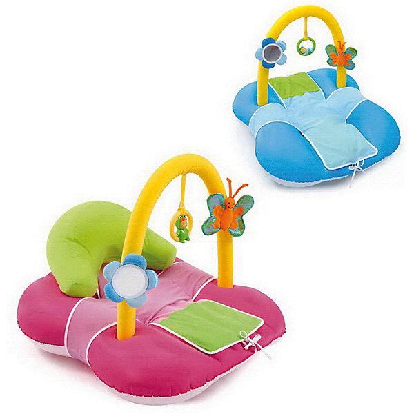 Детский надувной коврик Cotoons, SmobyРазвивающие коврики<br>Характеристики товара:<br><br>• возраст: с рождения<br>• материал: полиэстер, пластик<br>• в комплекте: коврик, дуга с игрушками, аксессуары<br>• размер коврика 74х60х53 см<br>• размер упаковки 70х51х43,2 см<br>• вес упаковки 1,27 кг<br>• страна бренда: Франция<br>• страна производитель: Китай<br>• товар представлен в ассортименте<br><br>Коврик надувной Smoby — развивающий коврик для малышей с рождения, на котором малыш может отдохнуть или поиграть. Для самых маленьких коврик используется для отдыха. На него крепится дуга с игрушками, которые малыш будет изучать, хватать. Дуга поспособствует развитию мелкой моторики рук, хватательного рефлекса, тактильных ощущений. Для детей постарше подушка надувается, и коврик превратится в удобное мягкое кресло. <br><br>Коврик надувной Smoby можно приобрести в нашем интернет-магазине.<br><br>Ширина мм: 432<br>Глубина мм: 510<br>Высота мм: 70<br>Вес г: 1270<br>Возраст от месяцев: -2147483648<br>Возраст до месяцев: 2147483647<br>Пол: Унисекс<br>Возраст: Детский<br>SKU: 5544422