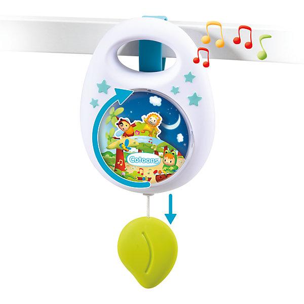 Музыкальная подвеска на кроватку Cotoons, SmobyИгрушки для новорожденных<br>Характеристики товара:<br><br>• возраст с рождения<br>• материал: пластик<br>• для работы не требуются батарейки<br>• размер упаковки 21х16х6 см<br>• вес упаковки 304 г.<br>• страна бренда: Франция<br>• страна производитель: Китай<br>• товар представлен в ассортименте<br><br>Музыкальная подвеска на кроватку Cotoons Smoby поможет молодой маме убаюкать кроху перед сном. Подвеска крепится на кроватку новорожденного при помощи ремешка. Потянув за листик, заиграет приятная мелодия, а картинки на передней панели начнут кружиться. <br><br>Подвеска изготовлена из безопасного пластика и не имеет острых углов. Для работы не требуются батарейки.<br><br>Музыкальную подвеску на кроватку Cotoons Smoby можно приобрести в нашем интернет-магазине.<br>Ширина мм: 160; Глубина мм: 210; Высота мм: 60; Вес г: 304; Возраст от месяцев: -2147483648; Возраст до месяцев: 2147483647; Пол: Унисекс; Возраст: Детский; SKU: 5544425;