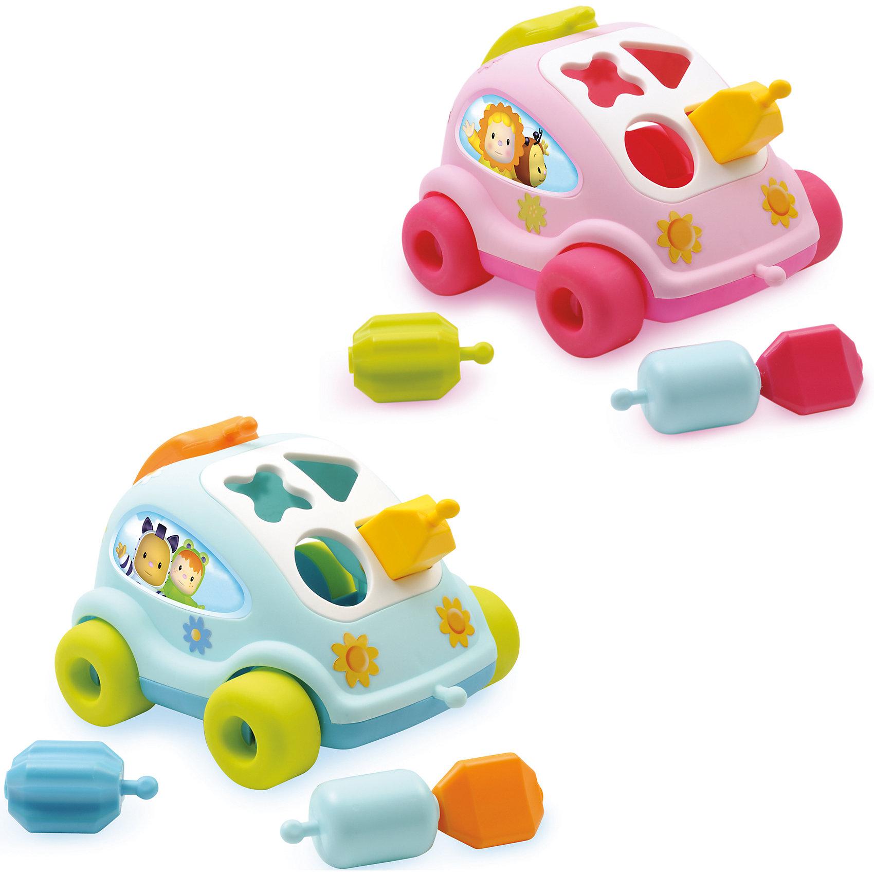 Развивающий автомобиль с фигурками, SmobyРазвивающие игрушки<br>Характеристики товара:<br><br>• возраст от 1 года<br>• материал: пластик<br>• в комплекте: игрушка, 4 фигурки<br>• размер игрушки  21,7х6,7х19 см<br>• размер упаковки21х25х15 см<br>• вес упаковки 700 г.<br>• страна бренда: Франция<br>• страна производитель: Франция<br>• товар представлен в ассортименте<br><br>Развивающий автомобиль с фигурками Smoby — развивающая игрушка сортер для малышей от 1 года. На передней панели автомобиля расположены отверстия определенной формы, в которые нужно вставлять подходящие фигурки. Малыш в процессе игры учится различать формы и цвета. У него развиваются мелкая моторика рук, тактильные ощущения, зрительное восприятие, логическое мышление. <br><br>Все фигурки соединяются между собой и присоединяются к автомобилю. Держа за цепочку, ребенок будет возить автомобиль как каталку. Багажник машинки превращается в сотовый телефон. Игрушка изготовлена из безопасного гипоаллергенного пластика и не имеет острых углов.<br><br>Развивающий автомобиль с фигурками Smoby можно приобрести в нашем интернет-магазине.<br><br>Ширина мм: 150<br>Глубина мм: 250<br>Высота мм: 210<br>Вес г: 700<br>Возраст от месяцев: 12<br>Возраст до месяцев: 2147483647<br>Пол: Унисекс<br>Возраст: Детский<br>SKU: 5544432
