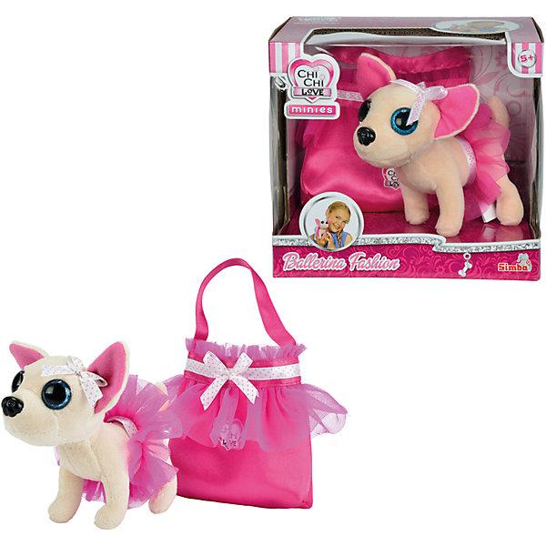 Мягкая игрушка с сумочкой Chi Chi Love - Чихуахуа в балетной пачке, 15 см, SimbaМягкие игрушки-собаки<br>Характеристики товара:<br><br>• возраст от 3 лет<br>• материал: пластик, плюш<br>• в комплекте: собачка, сумочка<br>• размер игрушки 15 см<br>• размер упаковки 20х19х16 см<br>• вес упаковки 410 гр.<br>• страна бренда: Германия<br>• страна производитель: Китай<br><br>Плюшевая собачка Чихуахуа в балетной пачке Simba станет верным домашним питомцем девочки. Собачка одета в балетную пачку, а на голове — маленький бантик из ленты. В комплекте сумочка для Чихуахуа, в которой девочка сможет брать своего питомца на прогулки или в гости к друзьям.<br><br>Плюшевую собачку Чихуахуа в балетной пачке Simba можно приобрести в нашем интернет-магазине.<br>Ширина мм: 200; Глубина мм: 190; Высота мм: 160; Вес г: 410; Возраст от месяцев: 36; Возраст до месяцев: 2147483647; Пол: Женский; Возраст: Детский; SKU: 5544438;