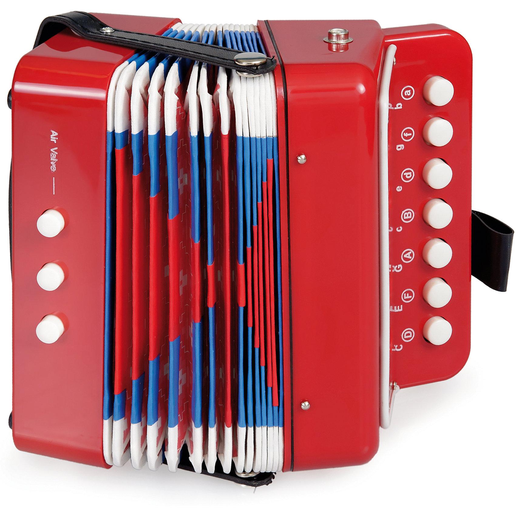 Детская игрушка Аккордеон, Egmont ToysМузыкальные инструменты и игрушки<br>Характеристики:<br><br>• материал: дерево, металл, пластик;<br>• чистый звук;<br>• вес: 450 г;<br>• размеры: 19х11х18 см;<br><br>Детская игрушка Аккордеон, Egmont Toys (Эгмонт Тойс) – эта игрушечный музыкальный инструмент, который совмещает в себе функции и возможности настоящего музыкального инструмента.<br><br>Игрушечный музыкальный инструмент оснащен тремя кнопками и клавишами. Конструкция и расположение клавиш выполнены с учетом возрастных особенностей маленьких детей. При игре издает чистый звук без посторонних шумов.<br><br>Игрушка от Эгмонт Тойс выполнена из материалов, безопасных для здоровья детей. Корпус из сочетания пластика, металла и дерева обеспечивает игрушке долговечность и прочность. Оформлен в ярких цветах.<br><br>Детская игрушка Аккордеон, Egmont Toys предназначена не только для веселого времяпрепровождения, игры с музыкальными инструментами развивают у ребенка музыкальный слух и чувство ритма.  <br><br>Детскую игрушку Аккордеон, Egmont Toys можно купить в нашем интернет-магазине.<br><br>Ширина мм: 190<br>Глубина мм: 110<br>Высота мм: 180<br>Вес г: 450<br>Возраст от месяцев: 36<br>Возраст до месяцев: 2147483647<br>Пол: Унисекс<br>Возраст: Детский<br>SKU: 5544472