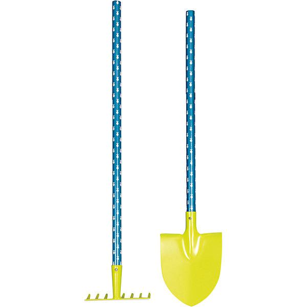 Садовые инструменты, 70 см, Egmont ToysИграем в песочнице<br>Характеристики:<br><br>• материал: металл, дерево;<br>• комплектация: лопата, грабли;<br>• длина инструментов: 70 см;<br>• вес: 600 г;<br>• размеры: 70х20х4 см;<br>• особенности ухода: сухая и влажная чистка.<br><br>Садовые инструменты, 70 см, Egmont Toys (Эгмонт Тойс) – эта набор игрушечных инструментов, состоящий из лопаты и граблей, которые предназначены для игр на улице.<br><br>Садовые инструменты выполнены из  металла и оснащены окрашенными ручками. Ручки у инструментов выполнены из обработанного дерева, за счет чего их удобно держать в  руках и они не скользят во время копания. Лопатка имеет заостренный конец, поэтому ей особенно удобно рыть ямки и туннели.<br><br>Садовые инструменты, 70 см, Egmont Toys предназначены   для садовых работ. Компактный размер инструментов позволит обрабатывать поверхность земли в цветочных клубах.   <br><br>Садовые инструменты, 70 см, Egmont Toys можно купить в нашем интернет-магазине.<br><br>Ширина мм: 700<br>Глубина мм: 200<br>Высота мм: 40<br>Вес г: 600<br>Возраст от месяцев: 36<br>Возраст до месяцев: 2147483647<br>Пол: Унисекс<br>Возраст: Детский<br>SKU: 5544489