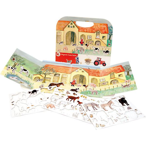Магнитная игра Ферма, Egmont ToysОкружающий мир<br>Характеристики:<br><br>• возраст: от 3-х лет;<br>• материал: картон, магнит;<br>• комплектация: магнитная книжка-основа, 70 магнитных деталей;<br>• размер игры в развёрнутом виде: 25х67,5 см;<br>• вес: 440 г;<br>• размер упаковки: 25х24х1 см;<br>• особенности ухода: сухая чистка.<br><br>Магнитная игра  «Ферма», Egmont Toys – это набор магнитных элементов, предназначенный для сюжетно-ролевых и обучающих игр. Набор также можно использовать в качестве настольной игры.<br><br>Набор состоит из картонной книжки-основы, на которую нанесено изображение фермы, фермерских построек и загонов для животных. К основе прилагаются 70 элементов с изображением животных и фермерской атрибутики. <br><br>Магнитная игра  «Ферма», Egmont Toys – это целое методическое пособие, которое позволит в легкой игровой форме познакомить ребенка с особенностями сельского хозяйства. Игра имеет огромное количество вариантов: «узнай животного», «где чей домик», «кто что ест» и др.<br><br>Магнитную игру  «Ферма», Egmont Toys можно купить в нашем интернет-магазине.<br>Ширина мм: 250; Глубина мм: 240; Высота мм: 10; Вес г: 440; Возраст от месяцев: 36; Возраст до месяцев: 2147483647; Пол: Унисекс; Возраст: Детский; SKU: 5544491;