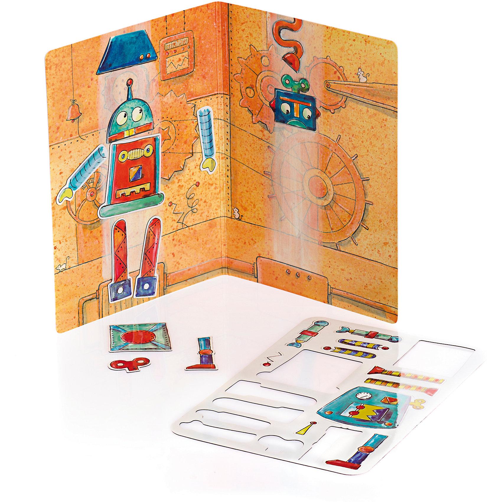 Магнитная игра Робот, 18 деталей, Egmont ToysНастольные игры для всей семьи<br>Характеристики:<br><br>• возраст: от 3-х лет<br>• материал: картон, магнит;<br>• комплектация: магнитная книжка-основа, 18 деталей;<br>• размер игры в развёрнутом виде: 26х18 см;<br>• вес: 100 г;<br>• размер упаковки: 18х13х1 см;<br><br>Магнитная игра  «Робот», Egmont Toys – это набор магнитных элементов, предназначенный для сюжетно-ролевых и обучающих игр. Набор также можно использовать в качестве настольной игры.<br><br>Набор состоит из картонной книжки-основы, на которую нанесено изображение конвейера и атрибутики конструкторского бюро. К основе прилагаются элементы с изображением деталей и запчастей к роботам.<br><br>Магнитная игра  «Робот», Egmont Toys – это целое методическое пособие, которое позволит в легкой игровой форме познакомить ребенка с особенностями конструкторского бюро. Набор имеет множество вариантов игр.<br><br>Магнитную игру  «Робот», Egmont Toys можно купить в нашем интернет-магазине.<br><br>Ширина мм: 180<br>Глубина мм: 130<br>Высота мм: 10<br>Вес г: 100<br>Возраст от месяцев: 36<br>Возраст до месяцев: 2147483647<br>Пол: Унисекс<br>Возраст: Детский<br>SKU: 5544492
