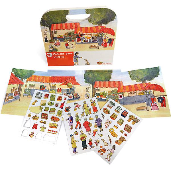 Магнитная игра За покупками, Egmont ToysОкружающий мир<br>Характеристики:<br><br>• возраст: от 3-х лет;<br>• материал: картон, магнит;<br>• комплектация: магнитная книжка-основа, 64 детали;<br>• размер игры в развёрнутом виде: 25х67,5 см;<br>• вес: 440 г;<br>• размер упаковки: 25х24х1 см;<br><br>Магнитная игра  «За покупками», Egmont Toys – это набор магнитных элементов, предназначенный для сюжетно-ролевых и обучающих игр. Набор также можно использовать в качестве настольной игры.<br><br>Набор состоит из картонной книжки-основы, на которую нанесено изображение продуктового рынка. К основе прилагаются элементы с изображением овощей и фруктов, покупателей и продавцов.<br><br>Магнитная игра  «За покупками», Egmont Toys – это целое методическое пособие, которое позволит в легкой игровой форме познакомить ребенка с особенностями продуктового рынка и правил поведения на нем. Набор имеет множество вариантов игр. <br><br>Магнитную игру  «За покупками», Egmont Toys можно купить в нашем интернет-магазине.<br><br>Ширина мм: 250<br>Глубина мм: 240<br>Высота мм: 10<br>Вес г: 440<br>Возраст от месяцев: 36<br>Возраст до месяцев: 2147483647<br>Пол: Унисекс<br>Возраст: Детский<br>SKU: 5544493